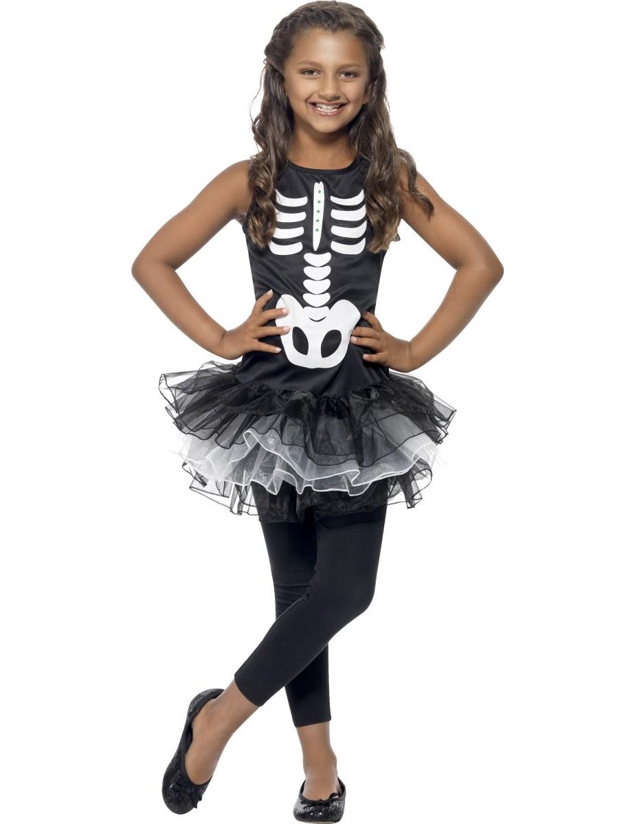 d guisement squelette tutu noir fille halloween deguise toi achat de d guisements enfants. Black Bedroom Furniture Sets. Home Design Ideas