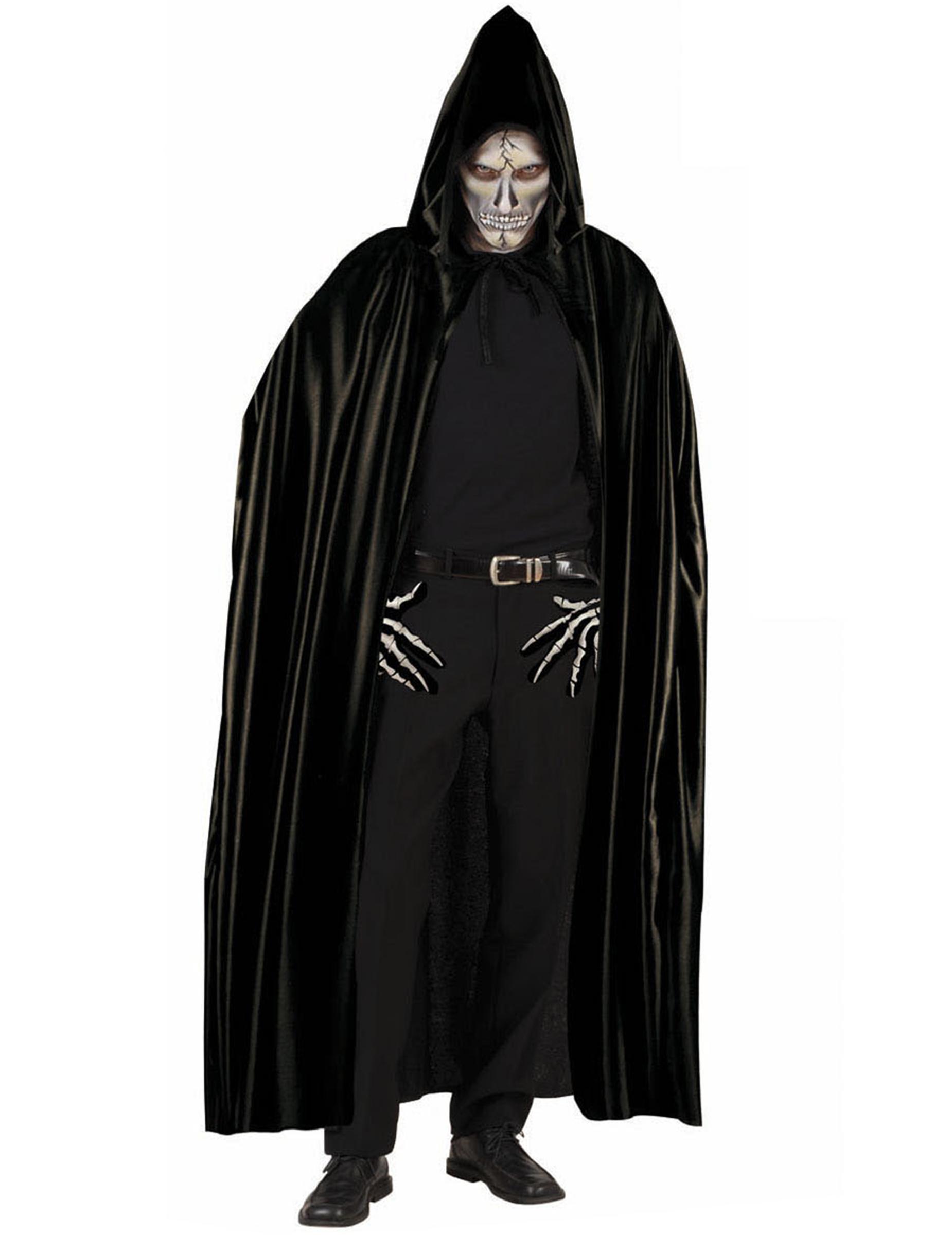 Fabuleux noire avec capuche adulte Halloween BU36