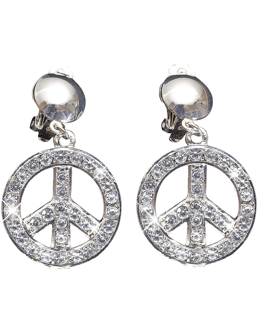 Boucles d 39 oreilles peace and love adulte deguise toi - Boucle d oreille peace and love ...