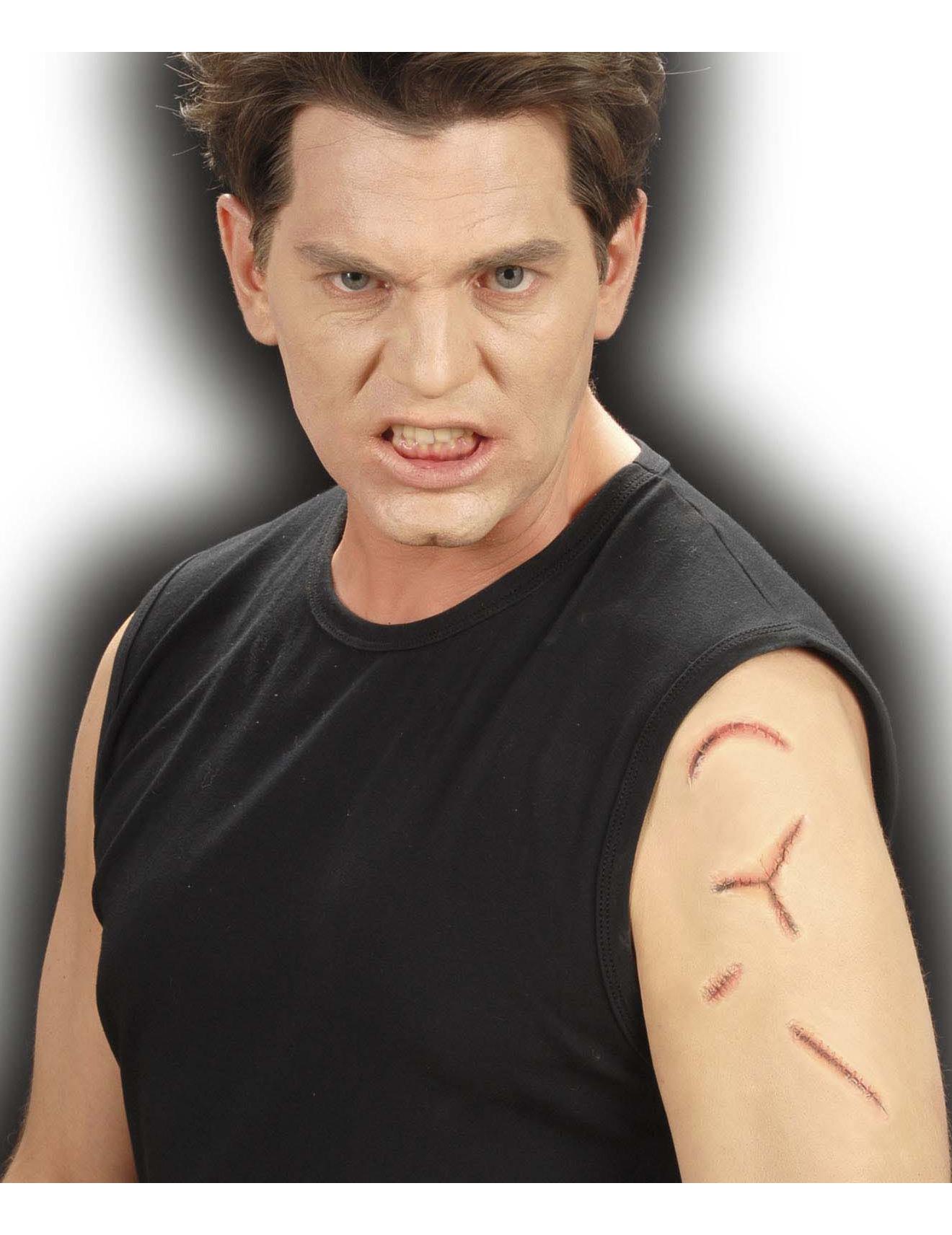 Fausses cicatrices recousues adulte halloween achat de maquillage sur vegaoopro grossiste en - Maquillage halloween cicatrice ...