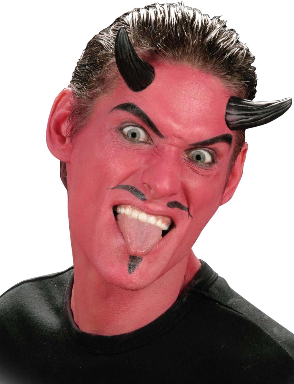 Fausses cornes de d mon noirs adulte halloween achat de for Comidee maquillage halloween adulte