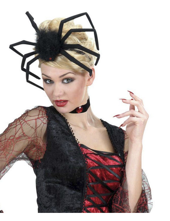 Coiffe araign e modelable adulte halloween - Maquillage halloween araignee ...