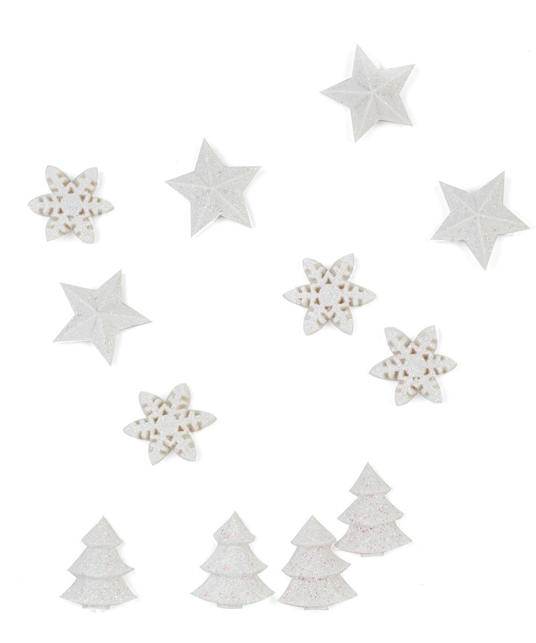#886543 12 Décorations De Table Blanches Noël 2.5 Cm Achat De  5443 décorations de noel grossiste 1104x1325 px @ aertt.com