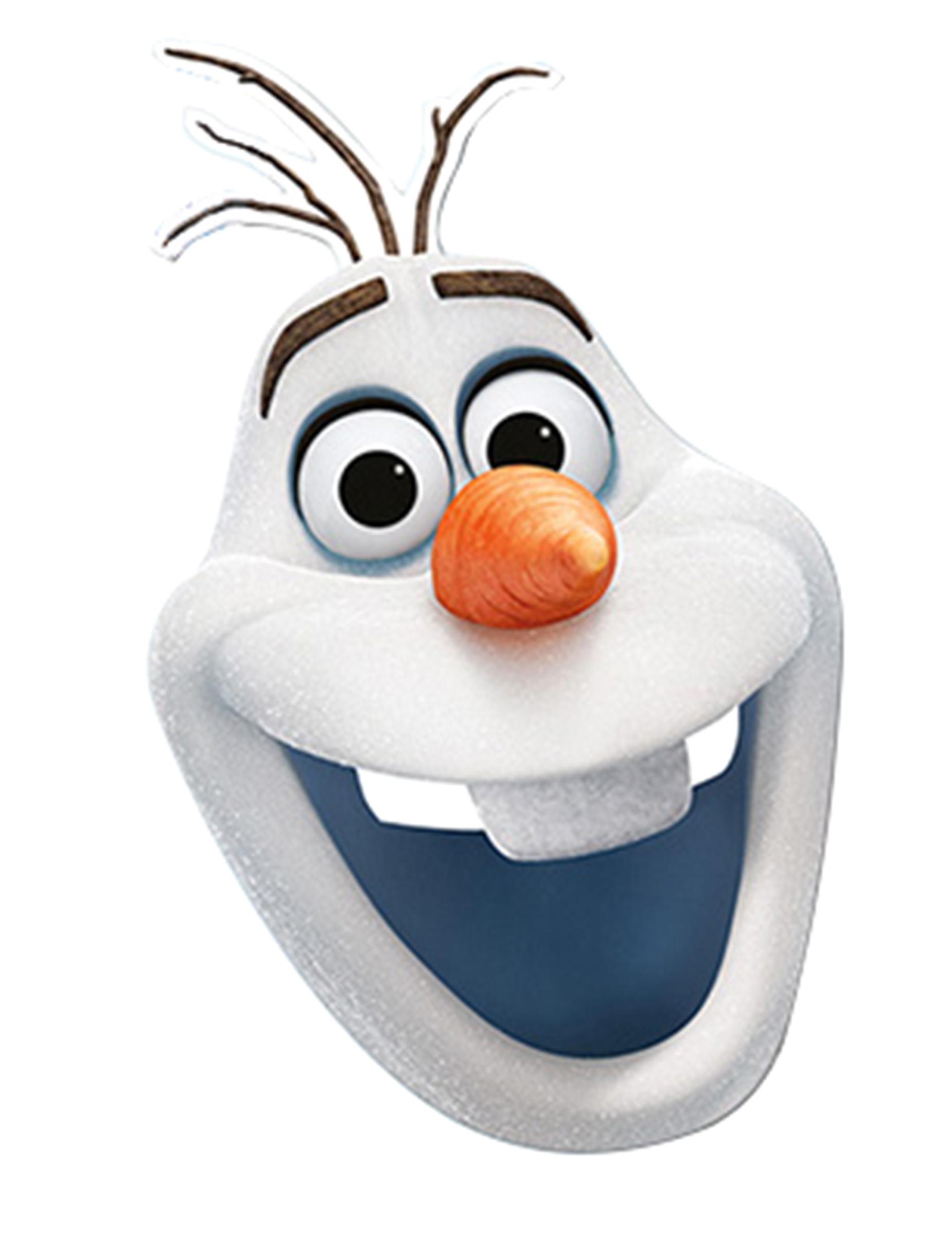 Masque Carton Olaf La Reine Des Neiges Deguise Toi