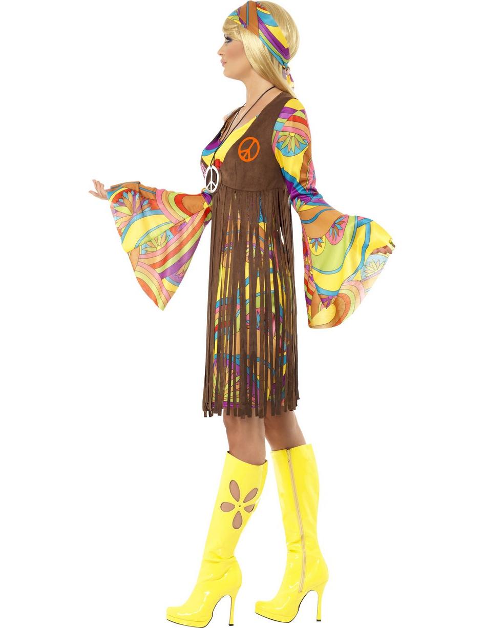 Disfraz hippie flores a os 70 - Hippies anos 70 ...