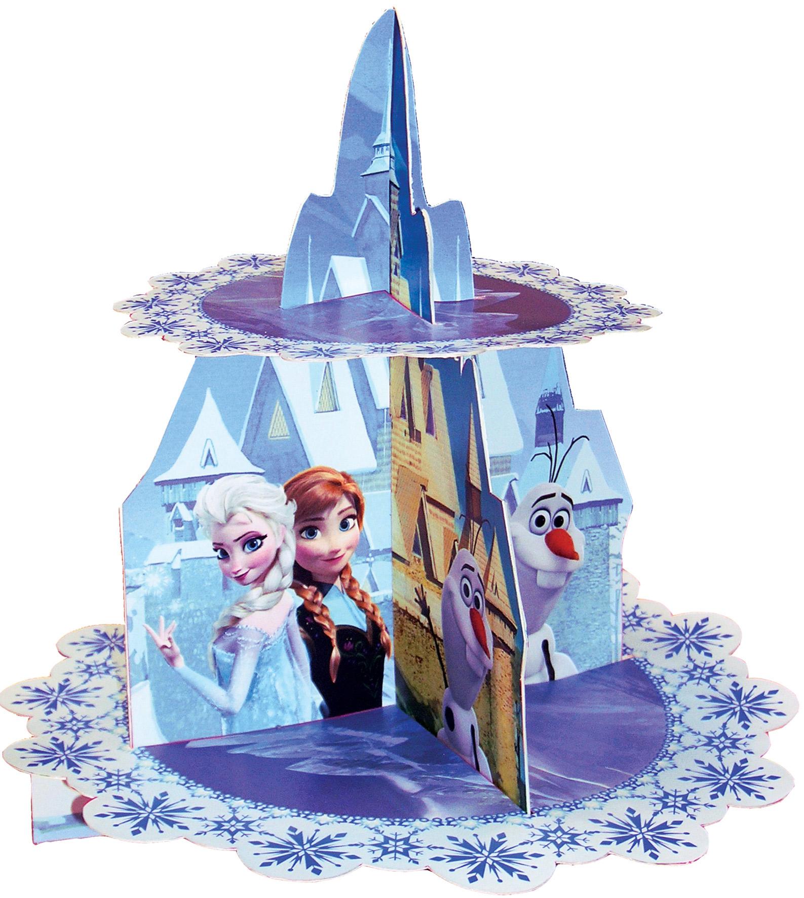 Pr sentoir cupcakes la reine des neiges deguise toi for Decoration porte reine des neiges