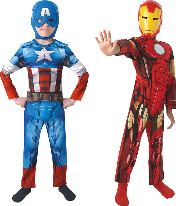 d guisement duo captain america et iron man gar on. Black Bedroom Furniture Sets. Home Design Ideas