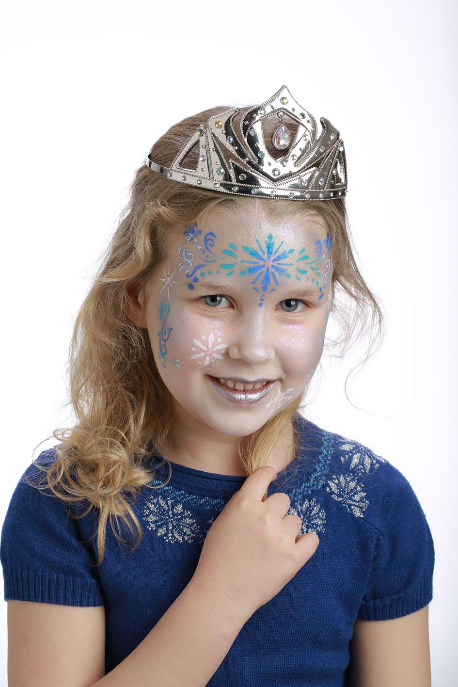pochoir de maquillage rutilisable princesse des neiges grim tout