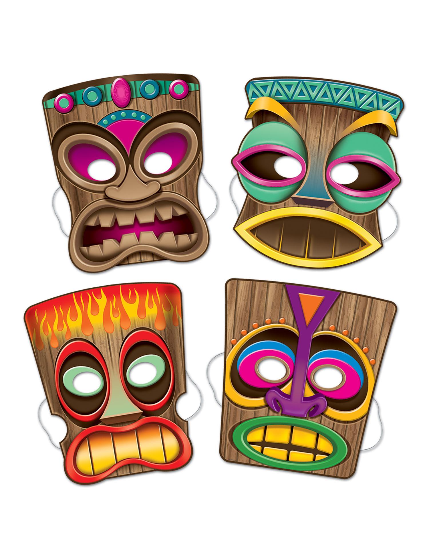 4 Masques Tiki Deguise toi Achat De