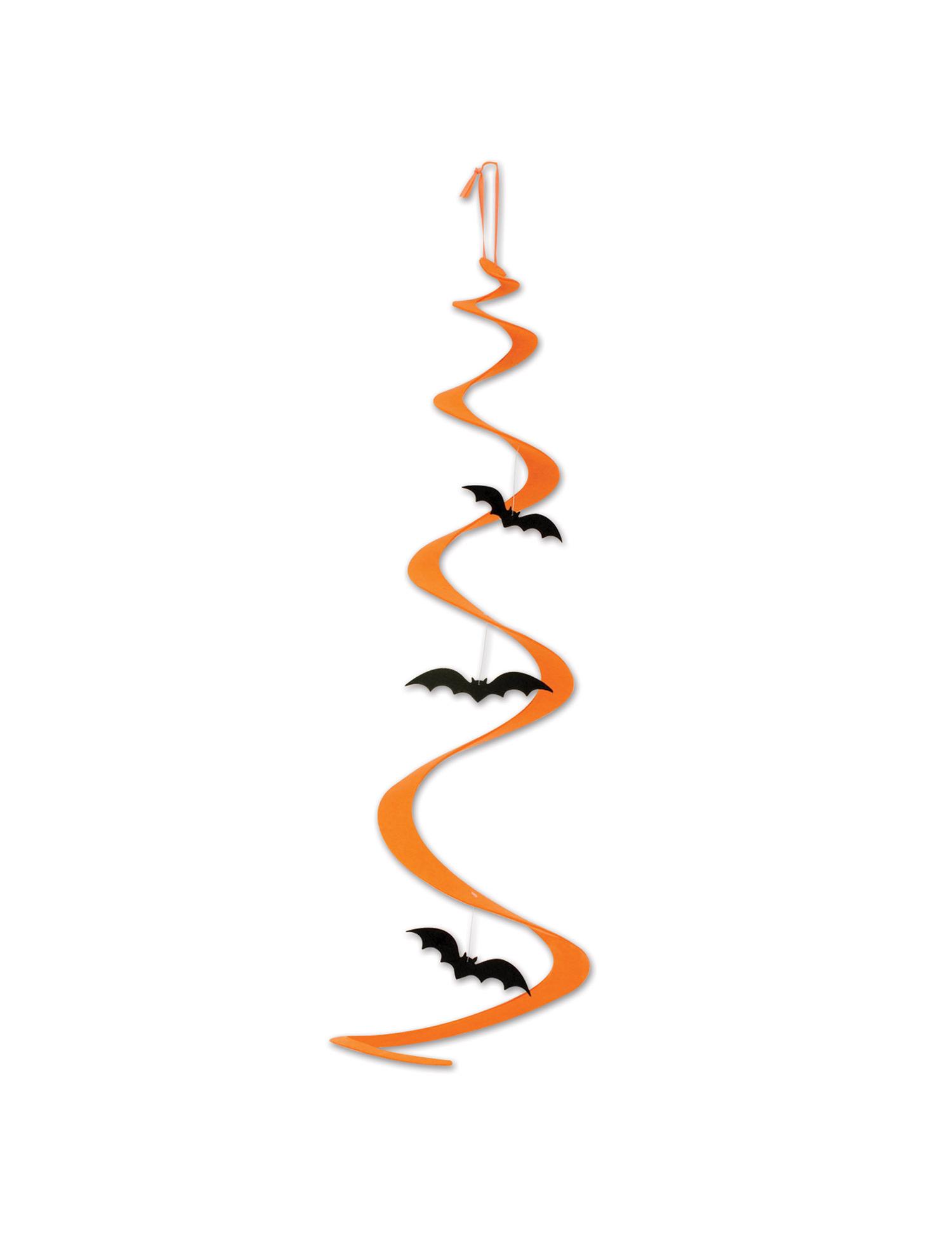 D coration spirale suspendre chauve souris halloween - Deco halloween chauve souris ...