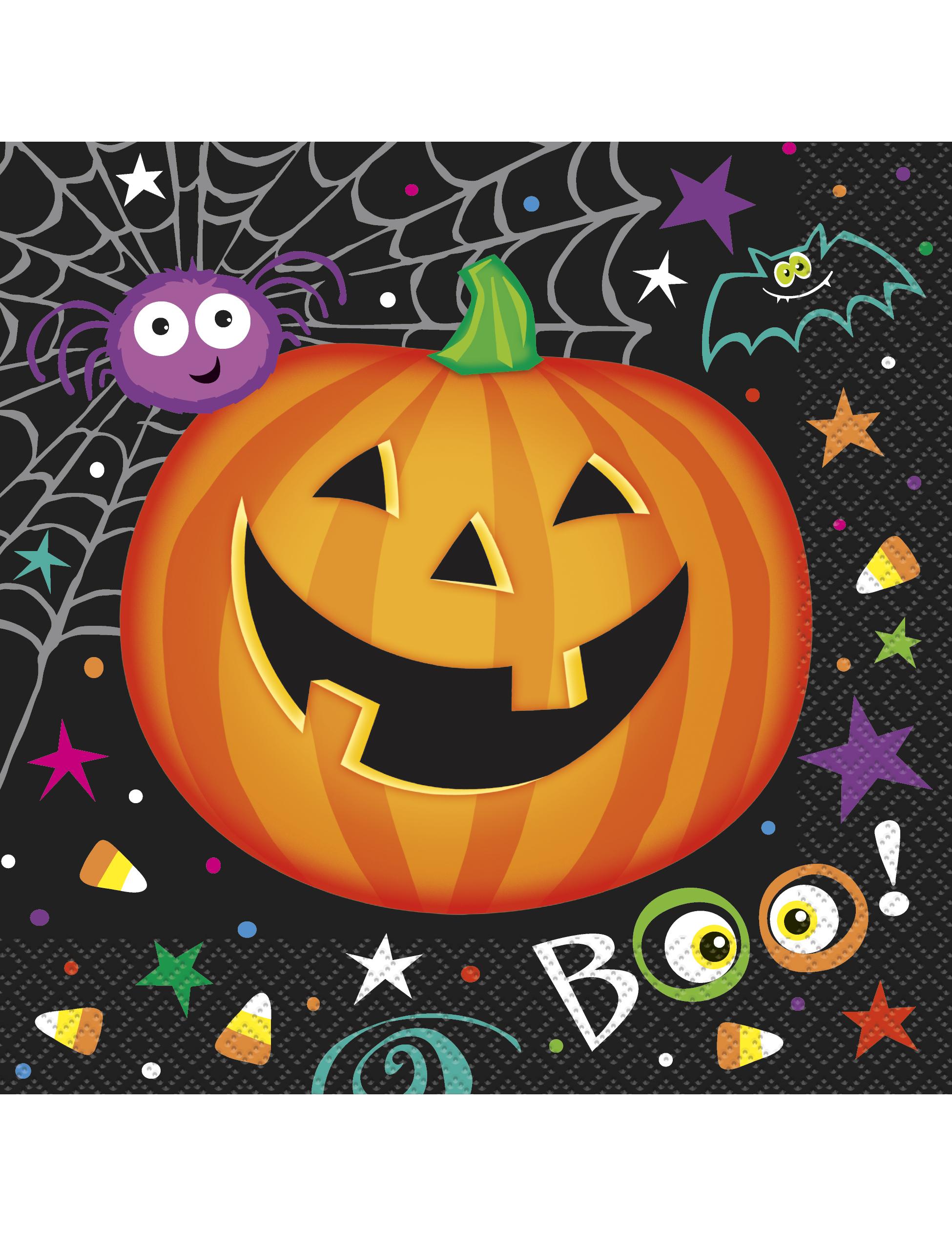 16 serviettes en papier petite citrouille halloween 33 x 33 cm deguise toi achat de - Citrouille halloween en papier ...