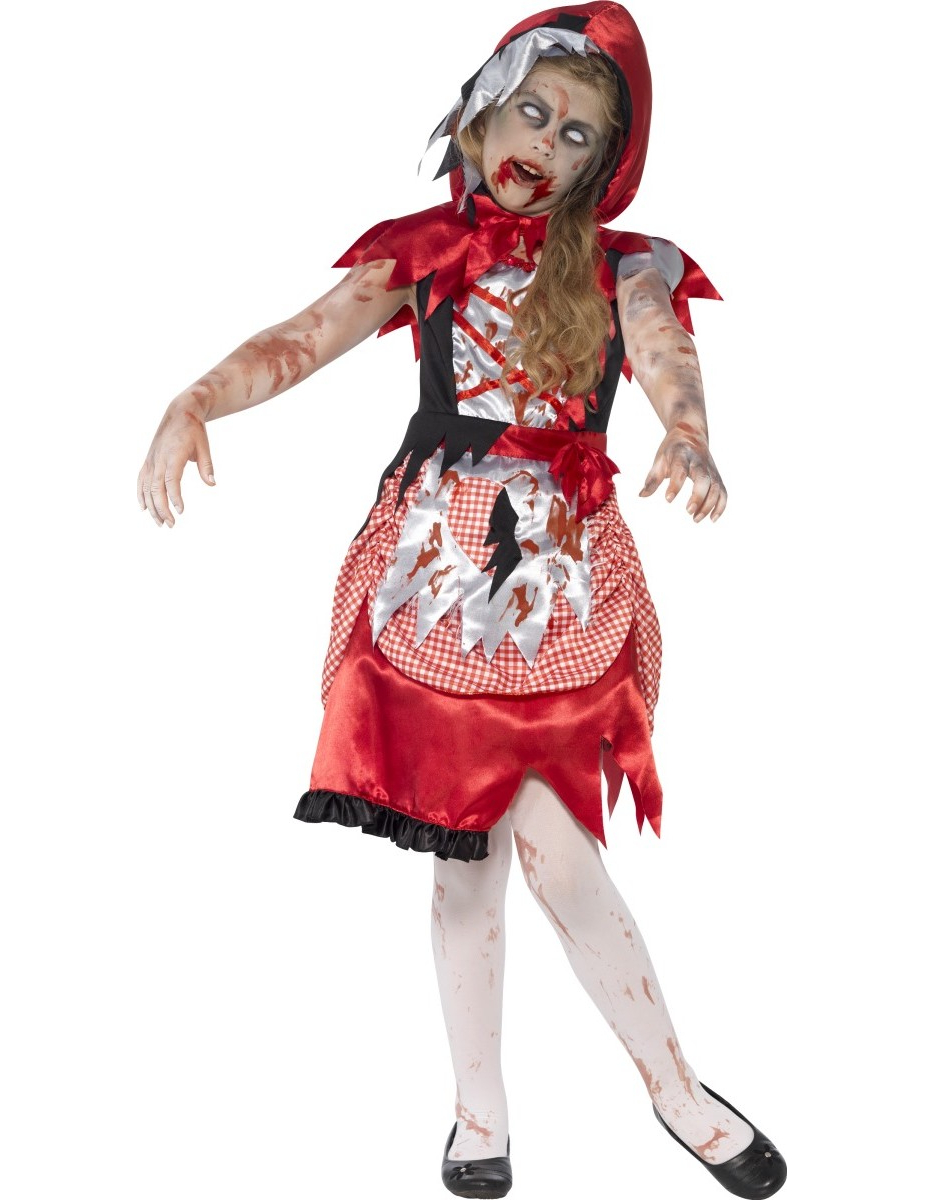 D guisement zombie chaperon rouge fille halloween - Deguisement fille halloween ...