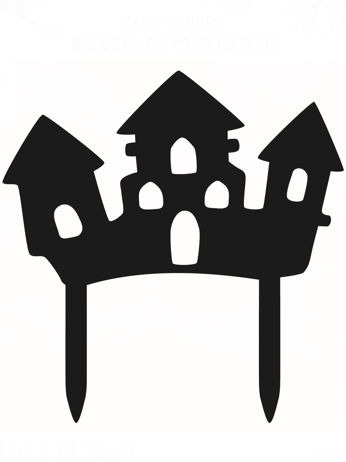 D coration pour g teau maison hant e halloween achat de for Decoration maison hantee