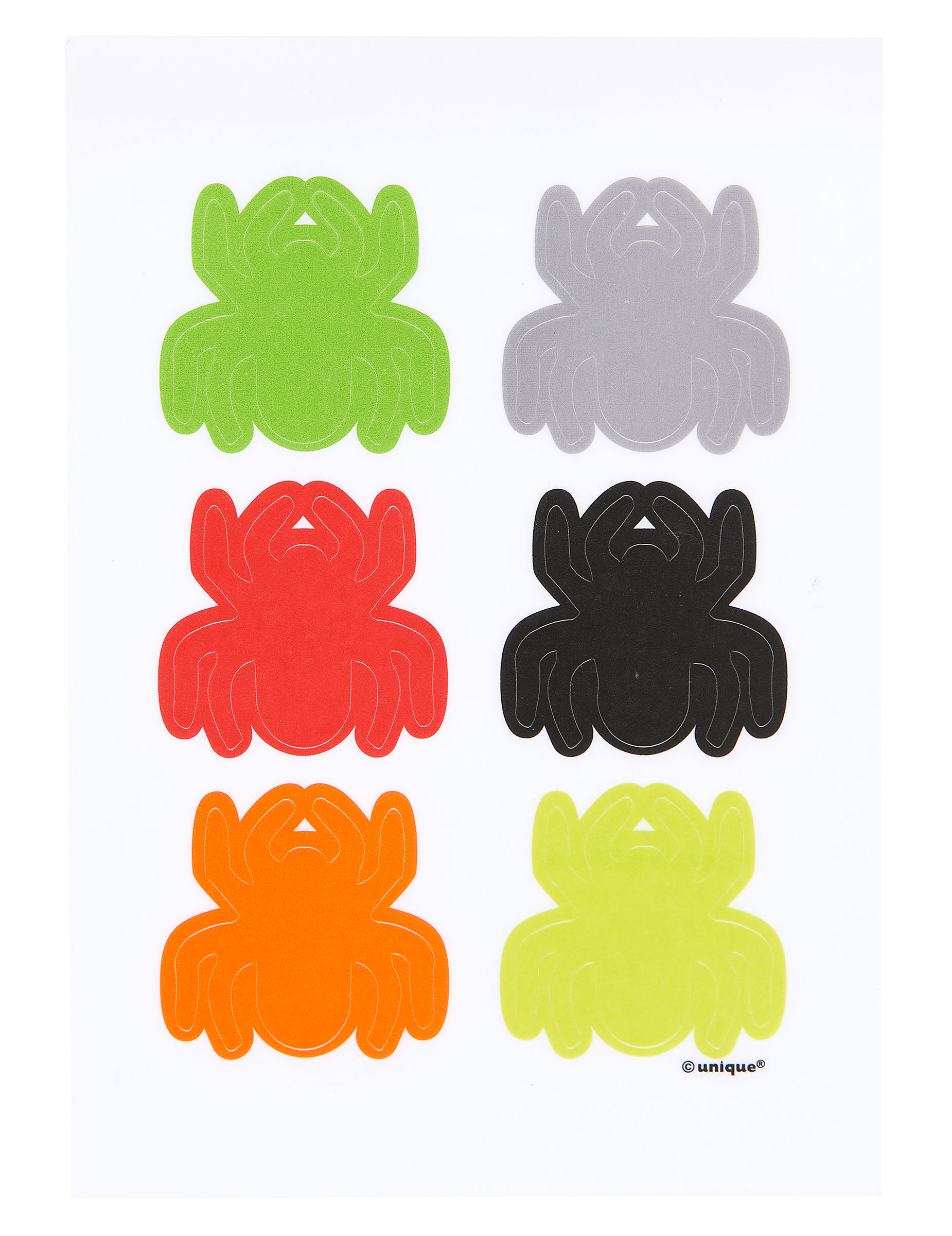 6 adh sifs d coratifs de verre araign es halloween achat de decoration animation sur for Adhesifs decoratifs
