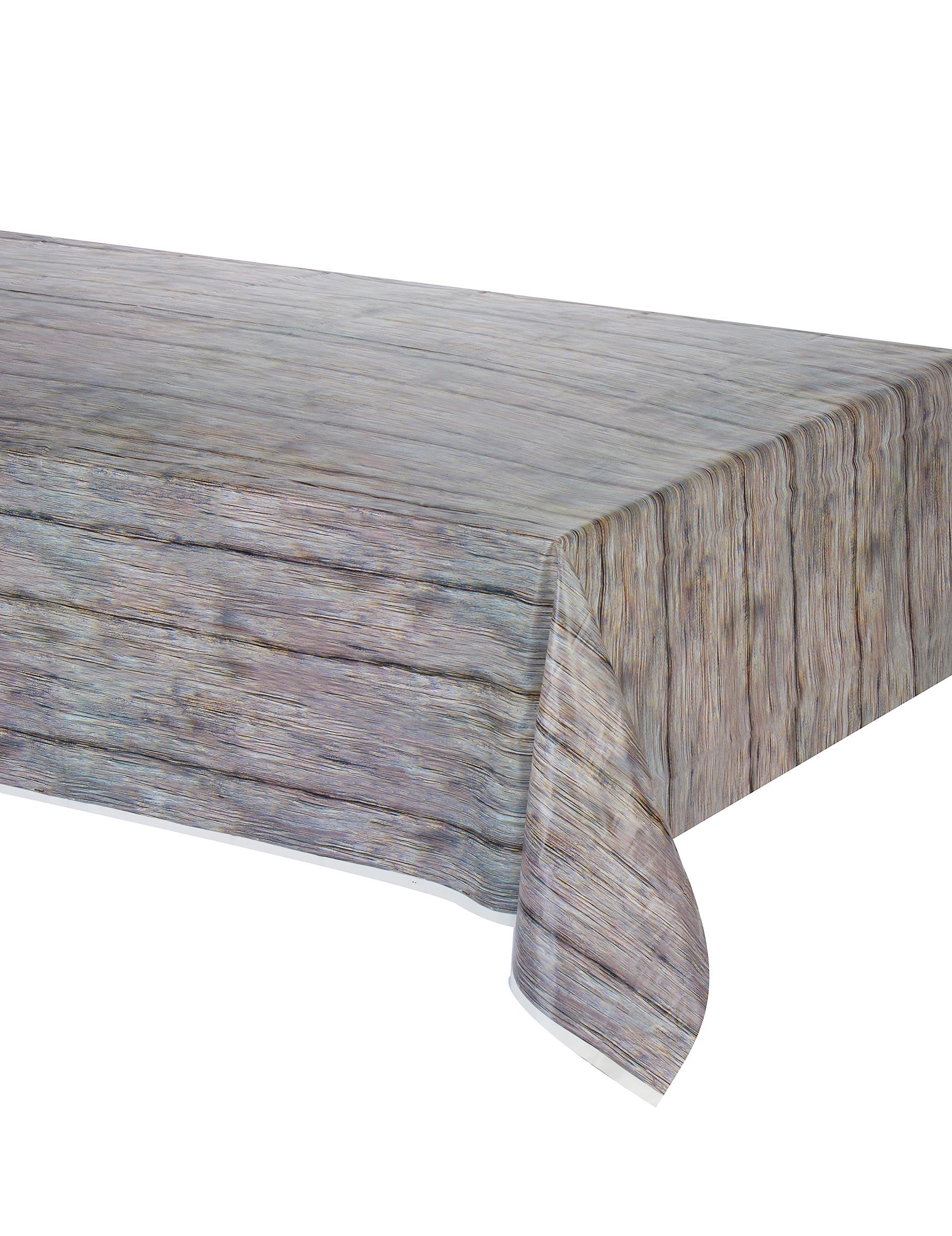 Nappe Effet Bois : Nappe effet bois rustique 137 x 274 cm : Deguise-toi, achat de