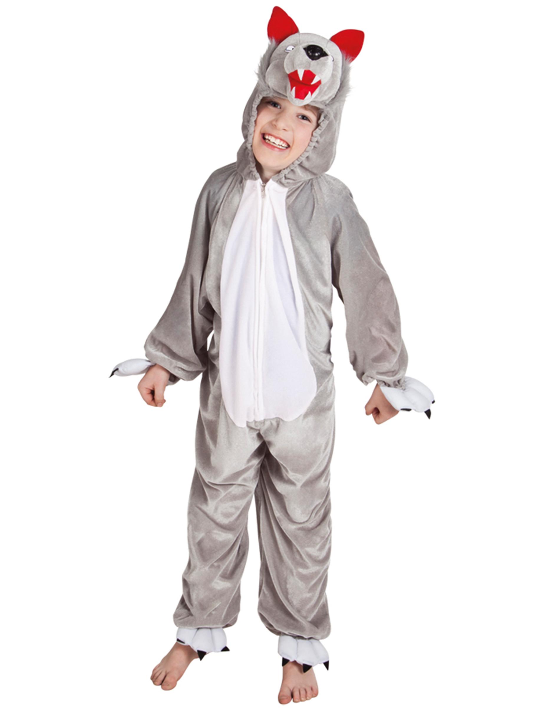 Home - Kinder Kostuums - Grijze wolf kostuum voor kinderen
