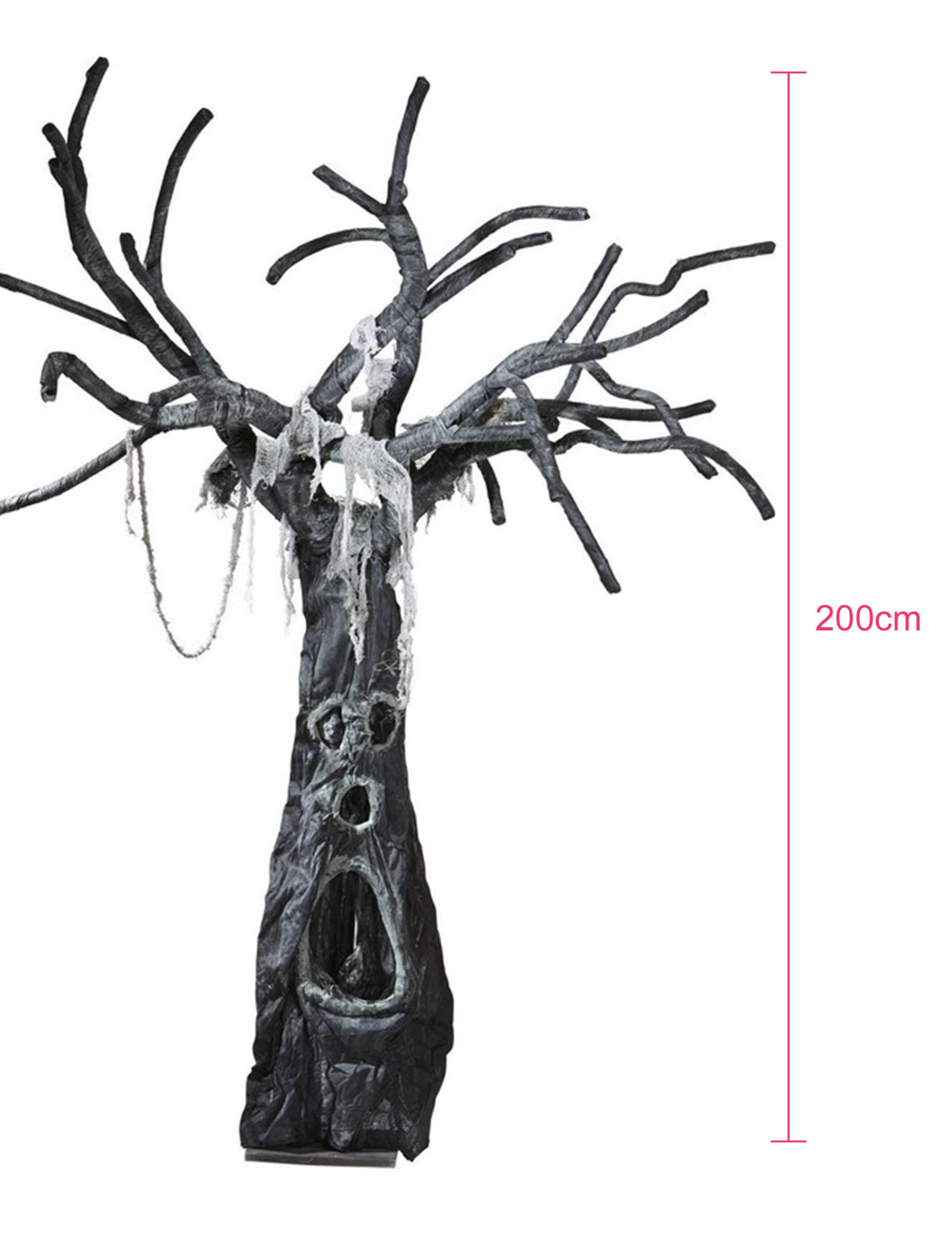 arbre hant g ant d 39 halloween 2 m tres achat de decoration animation sur vegaoopro grossiste. Black Bedroom Furniture Sets. Home Design Ideas