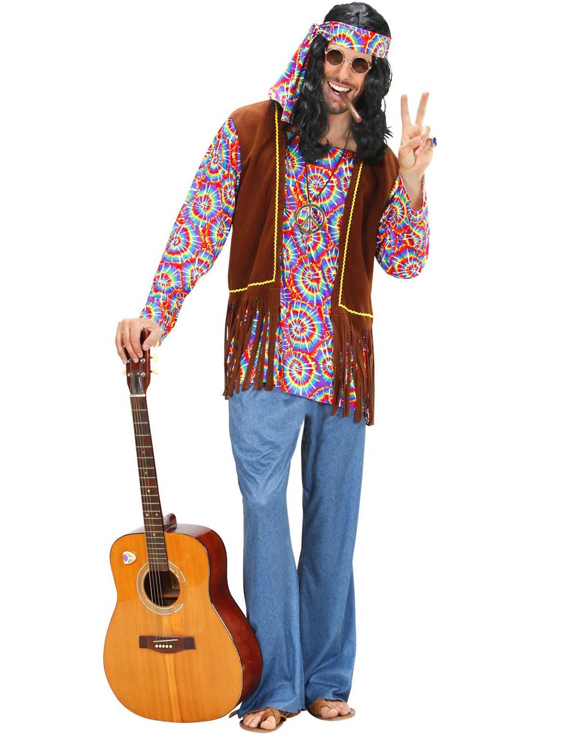 d guisement hippie psych d lique homme deguise toi achat de d guisements adultes. Black Bedroom Furniture Sets. Home Design Ideas