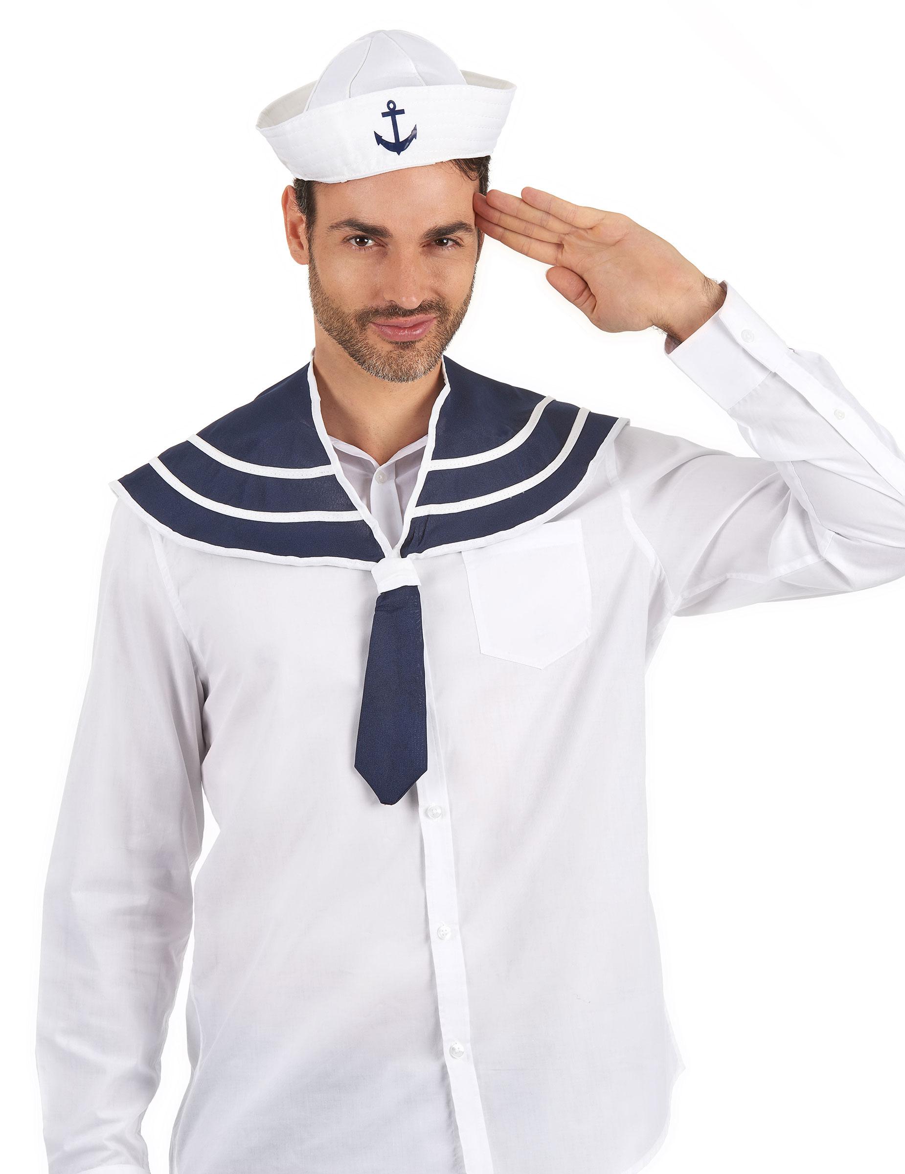 chapeau et col bleu marin adulte deguise toi achat de accessoires. Black Bedroom Furniture Sets. Home Design Ideas