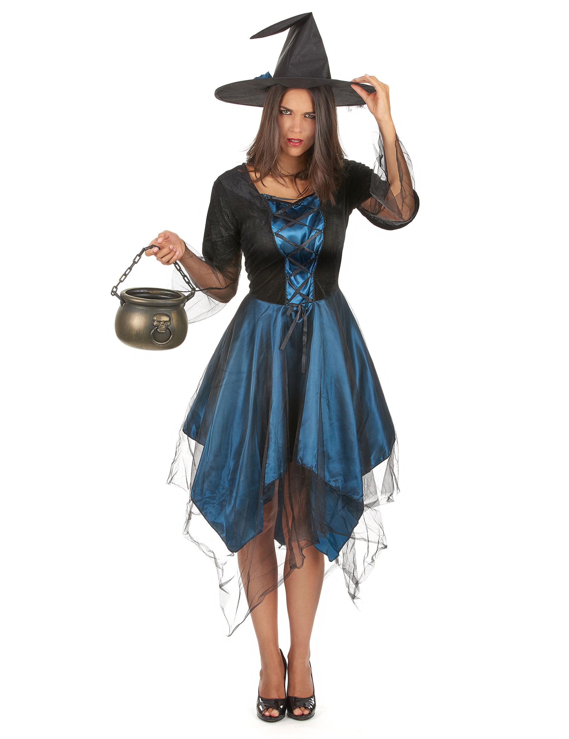 D guisement sorci re bleue nuit femme halloween deguise toi achat de d guisements adultes - Photo deco slaapkamer volwassene ...