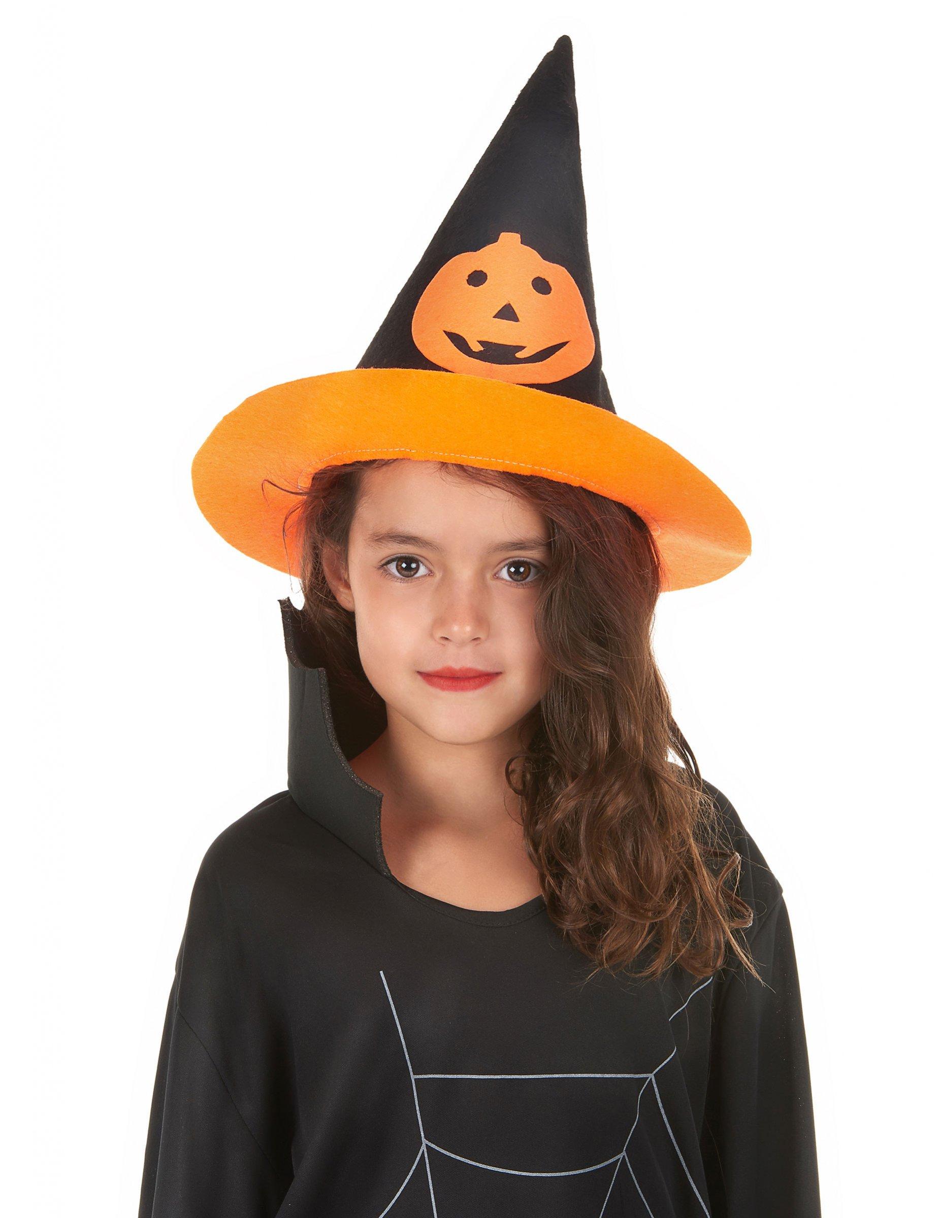 chapeau sorci re citrouille enfant halloween deguise toi achat de chapeaux. Black Bedroom Furniture Sets. Home Design Ideas