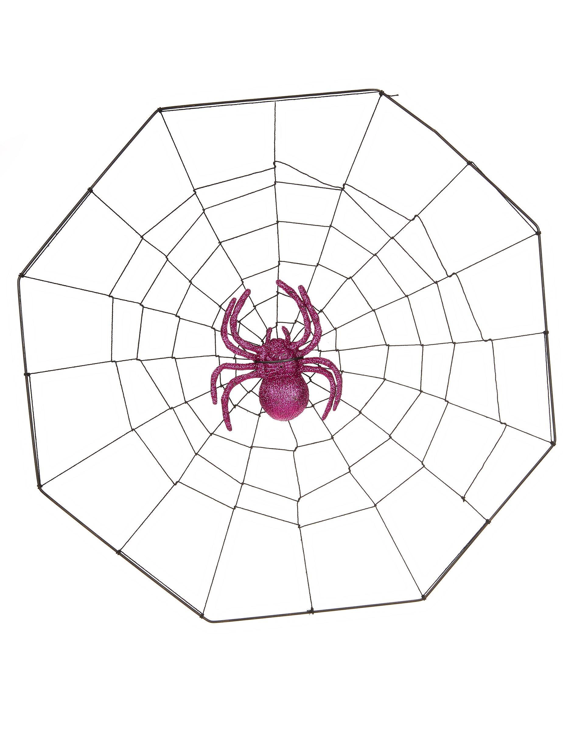 Toile d 39 araign e ventouse halloween deguise toi achat de decoration animation - Maquillage halloween toile d araignee ...