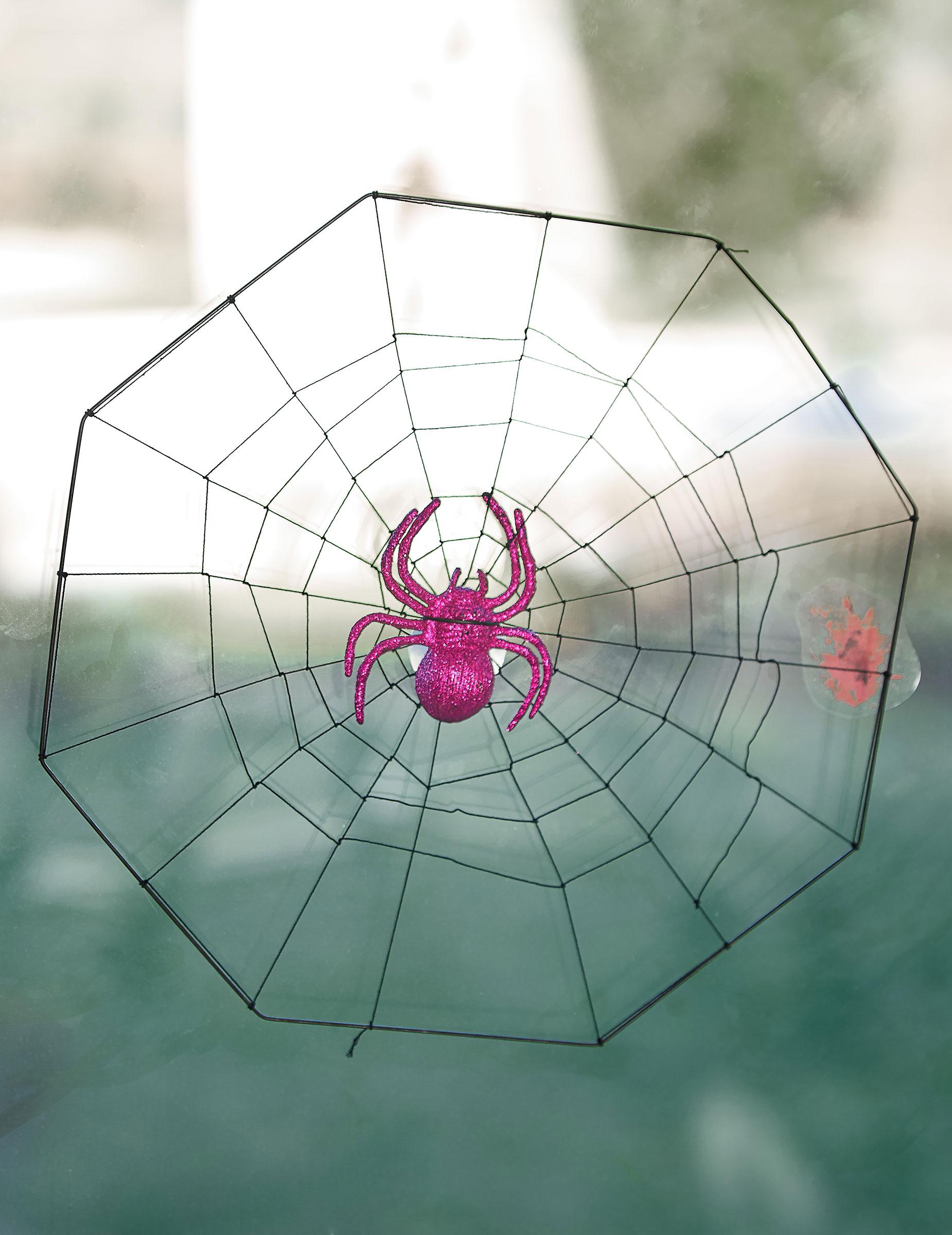 Toile d 39 araign e ventouse halloween deguise toi achat - Maquillage toile d araignee ...
