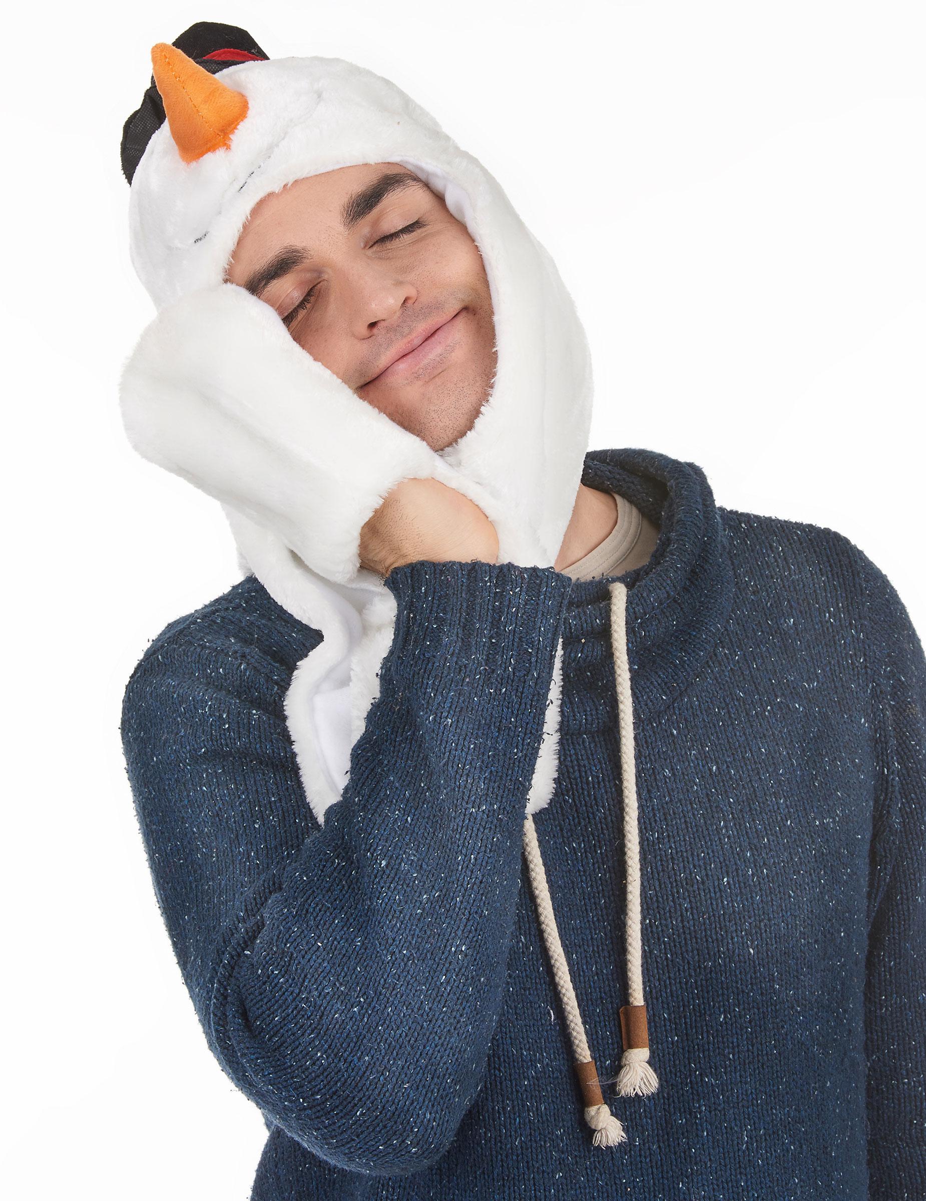 Bonnet avec charpe bonhomme de neige adulte no l deguise toi achat de chapeaux - Bonhomme de neige en laine ...