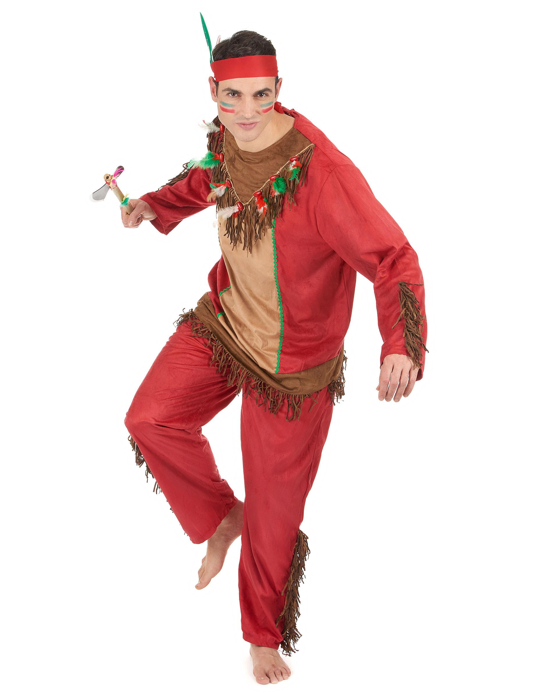 D guisement indien rouge homme achat de d guisements adultes sur vegaoopro grossiste en - Maquillage indien homme ...