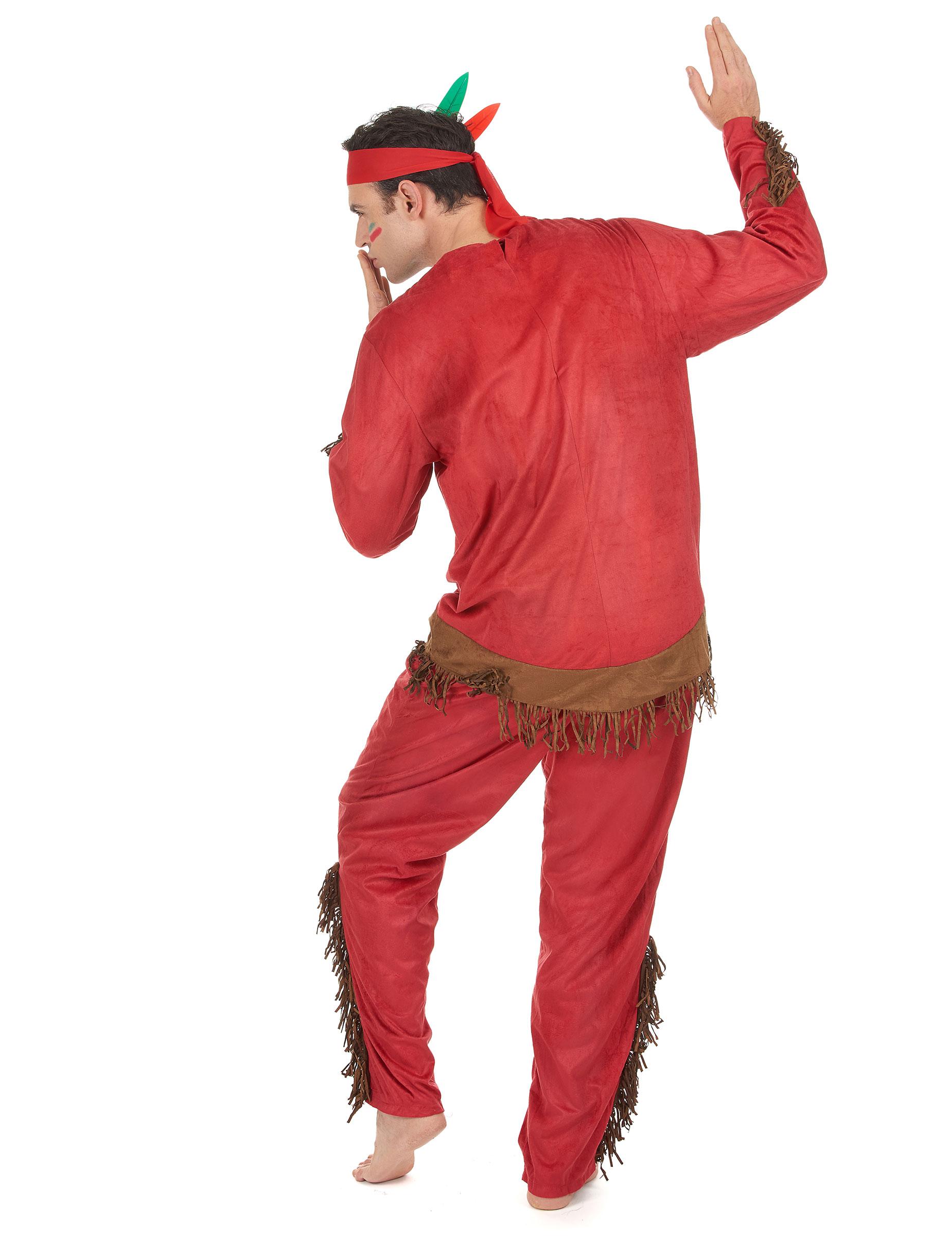 d guisement indien rouge homme deguise toi achat de d guisements adultes. Black Bedroom Furniture Sets. Home Design Ideas