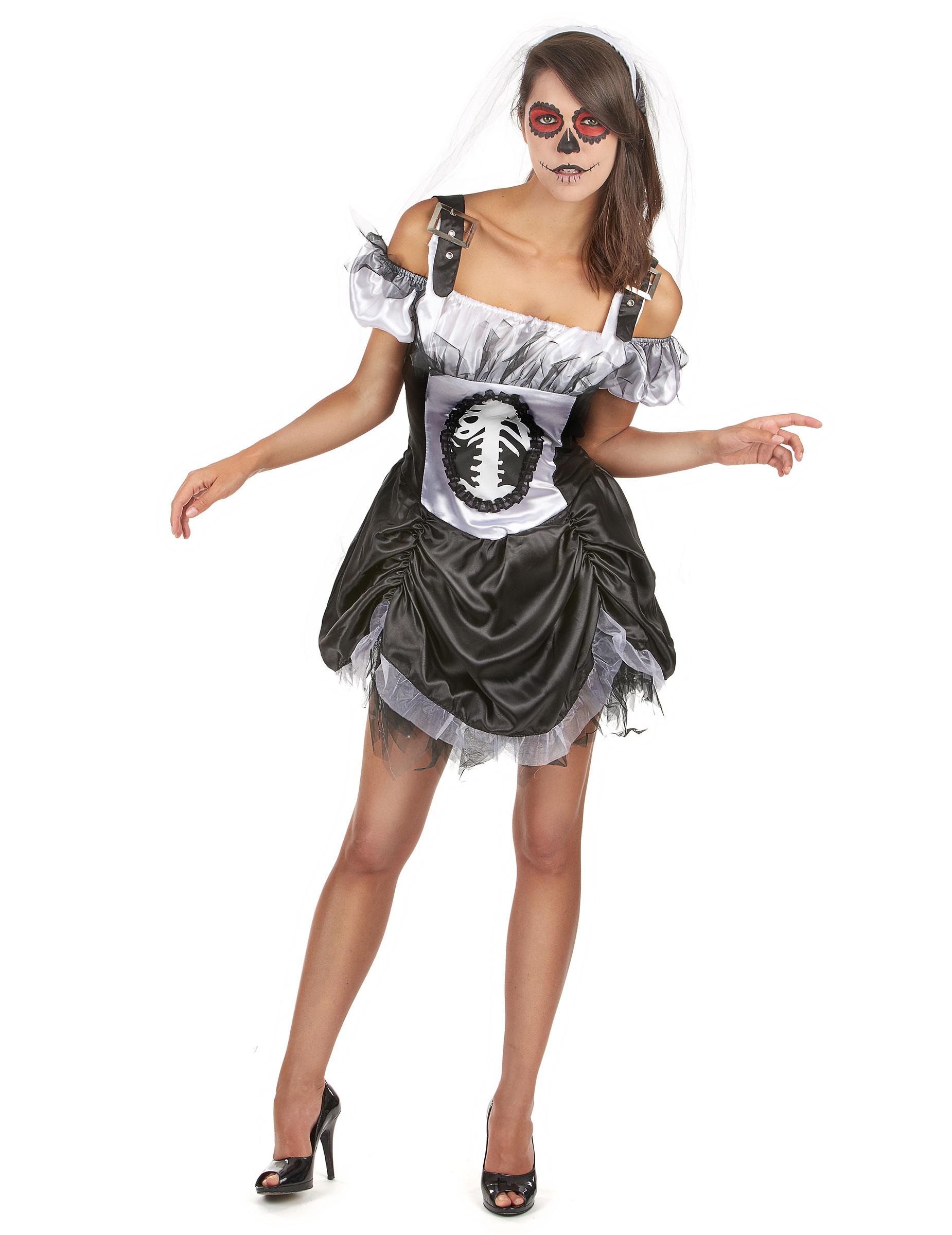 d guisement squelette chic femme halloween deguise toi. Black Bedroom Furniture Sets. Home Design Ideas
