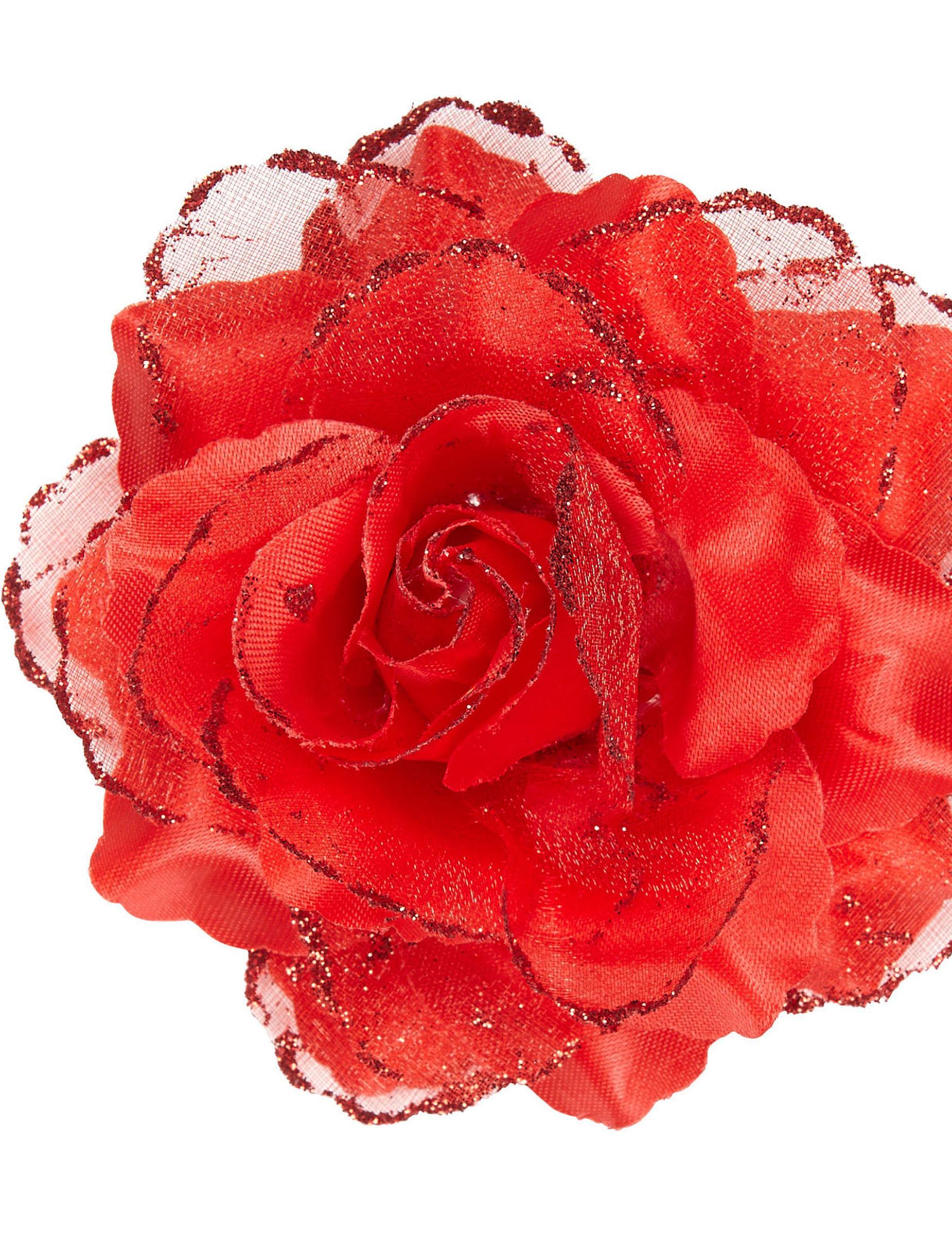 rose rouge pour cheveux femme deguise toi achat de accessoires. Black Bedroom Furniture Sets. Home Design Ideas