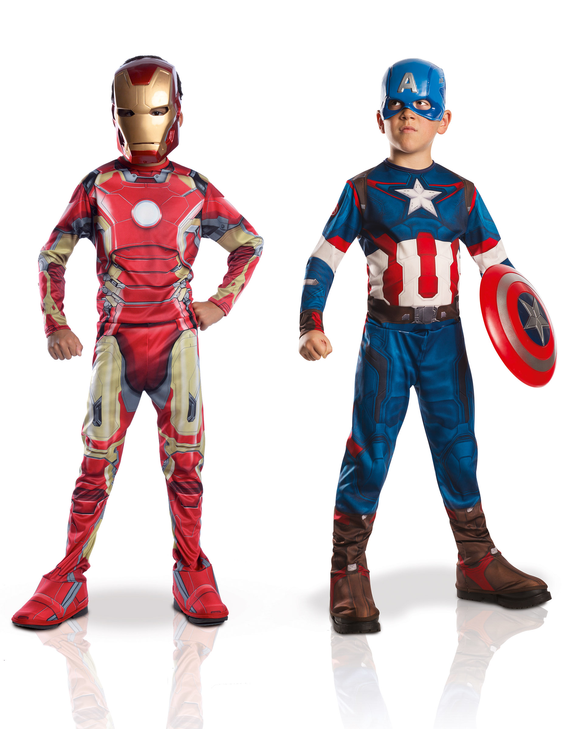 pack d guisements enfant iron man captain america avengers 2 coffret deguise toi achat. Black Bedroom Furniture Sets. Home Design Ideas