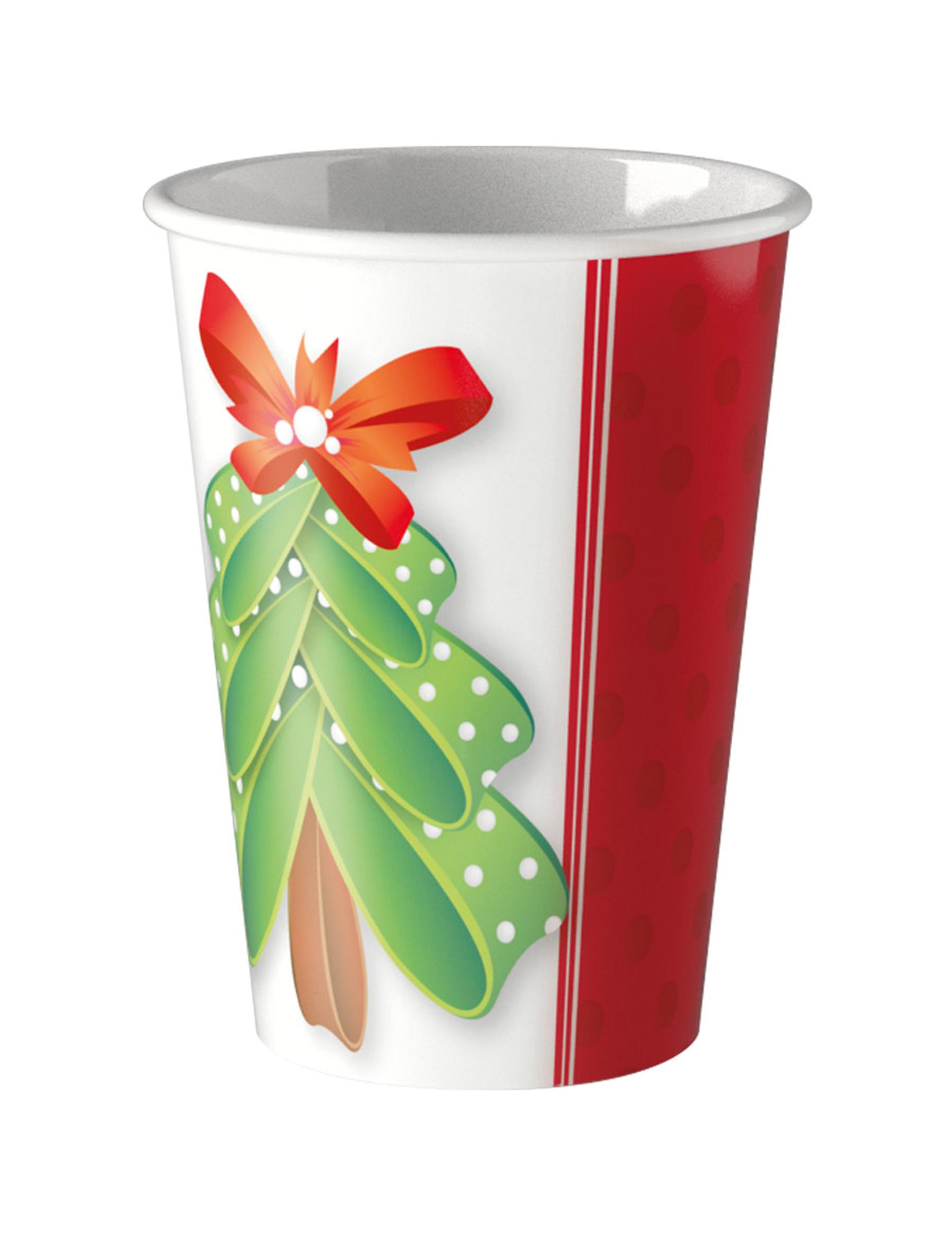 8 gobelets en carton joli sapin no l 200 ml deguise toi achat de decoration animation - Joli sapin de noel ...
