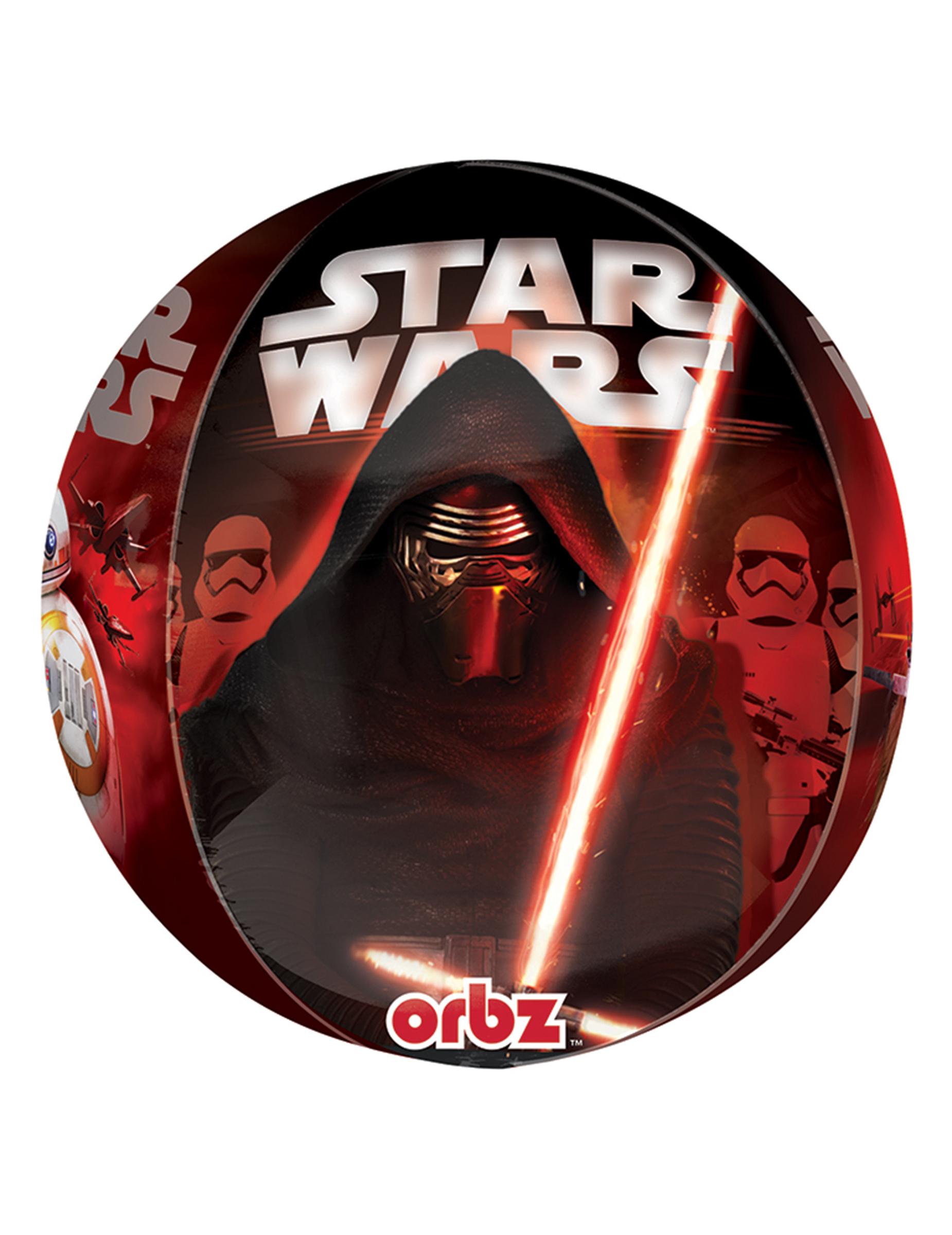 Ballon en aluminium personnages star wars vii 38 x 40 cm - Personnage star wars 7 ...