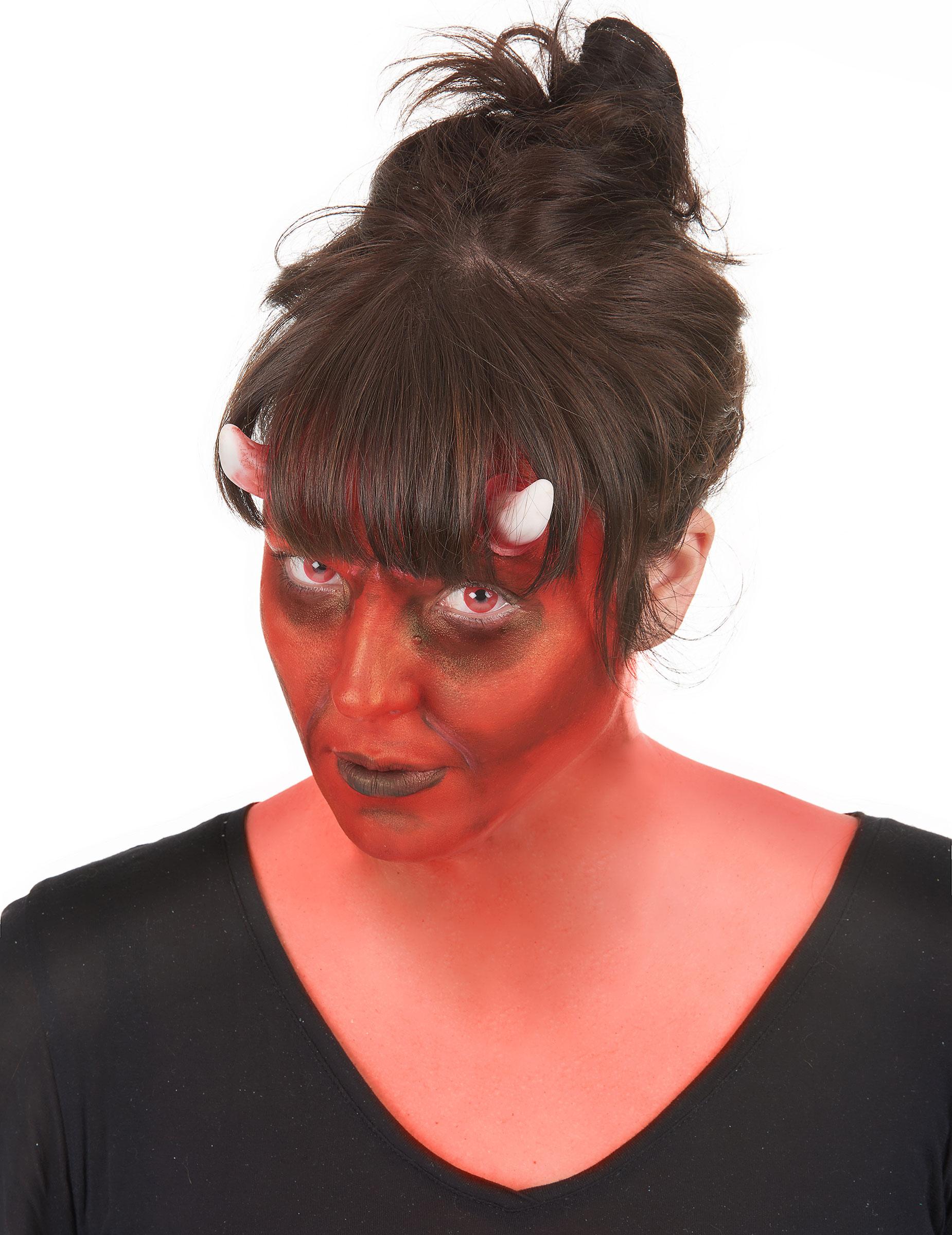 Kit Maquillage D Mon Avec Lentilles Fantaisie Adulte Halloween Achat De Maquillage Sur