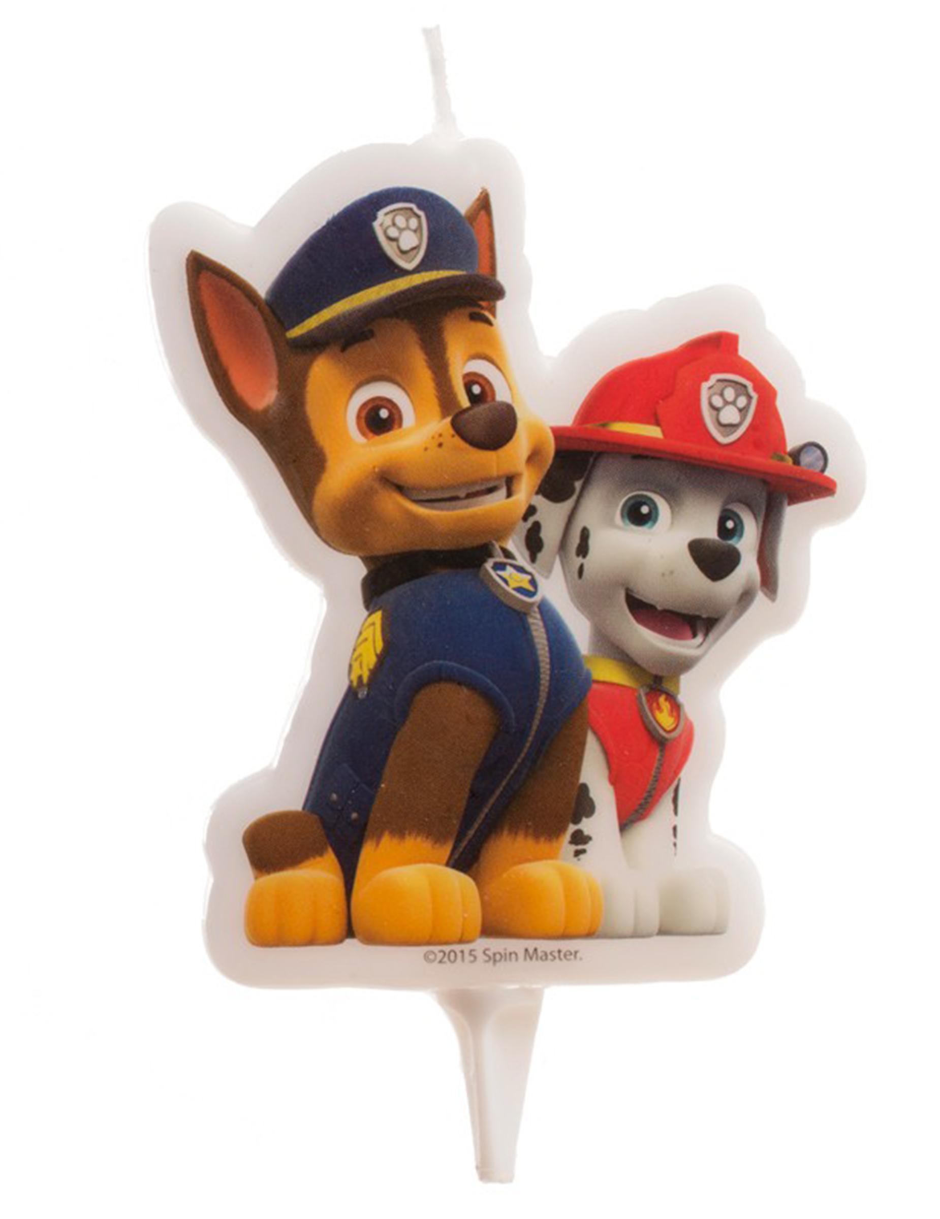 bougie pat 39 patrouille paw patrol achat de decoration animation sur vegaoopro grossiste en. Black Bedroom Furniture Sets. Home Design Ideas