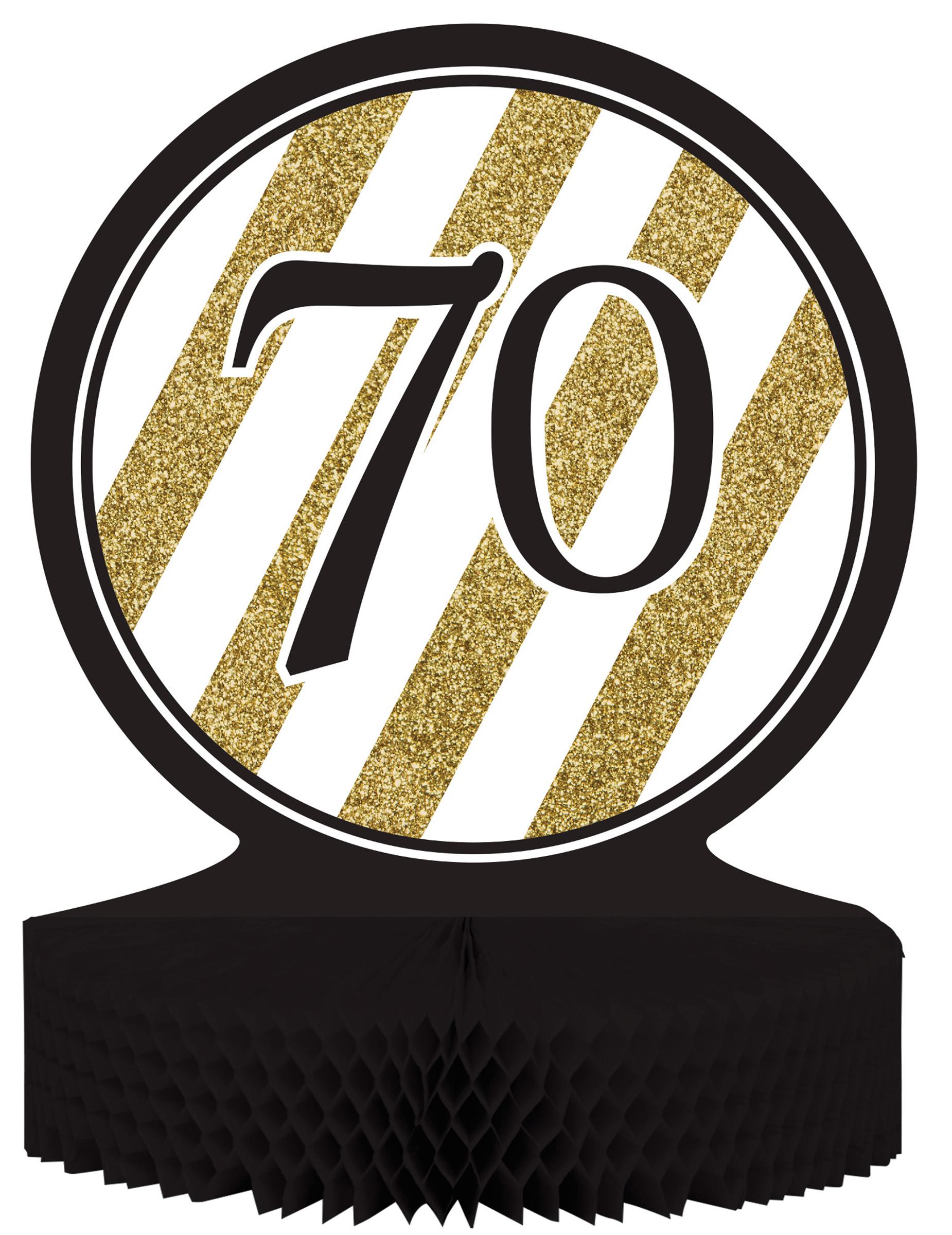 Centre de table 70 ans noir et or achat de decoration for Idee deco 70 ans