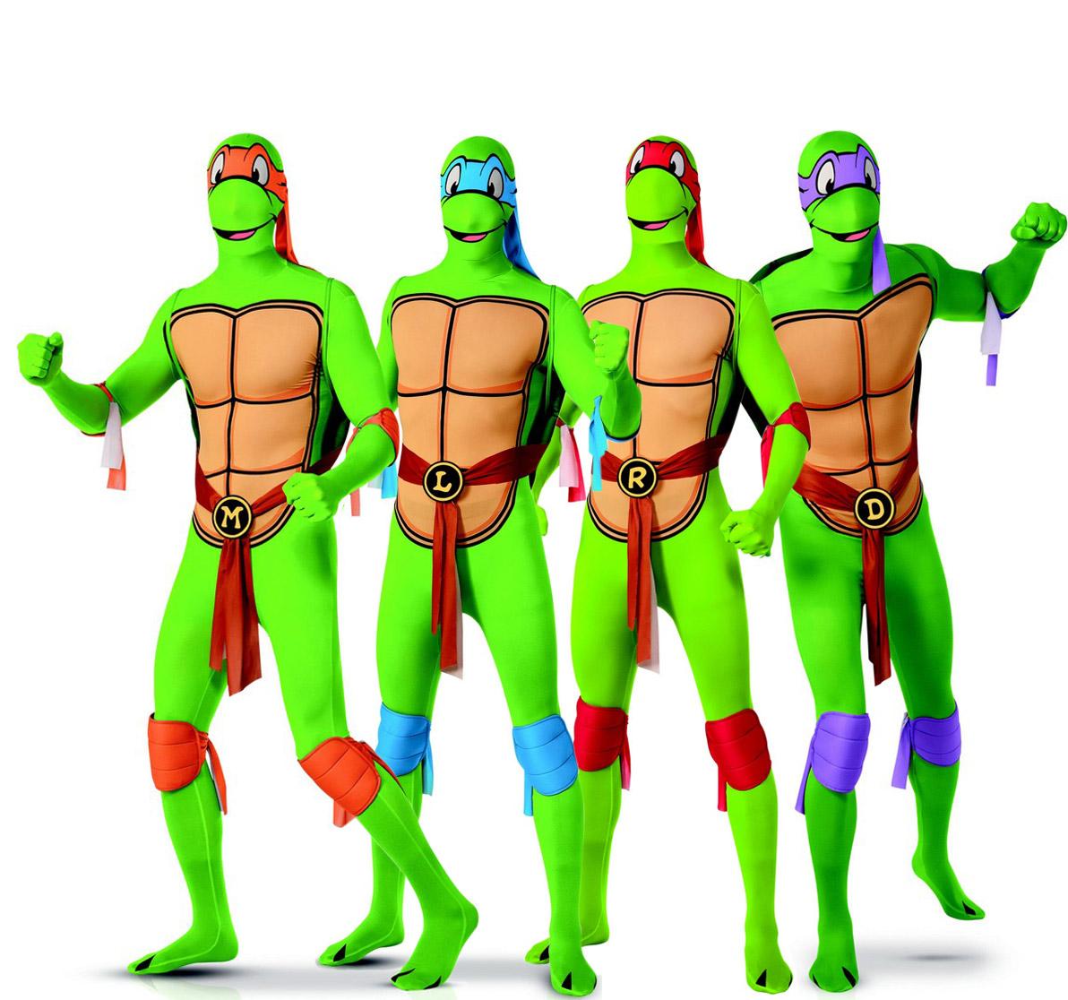 Déguisement de groupe Tortues Ninja™ seconde peau adultes