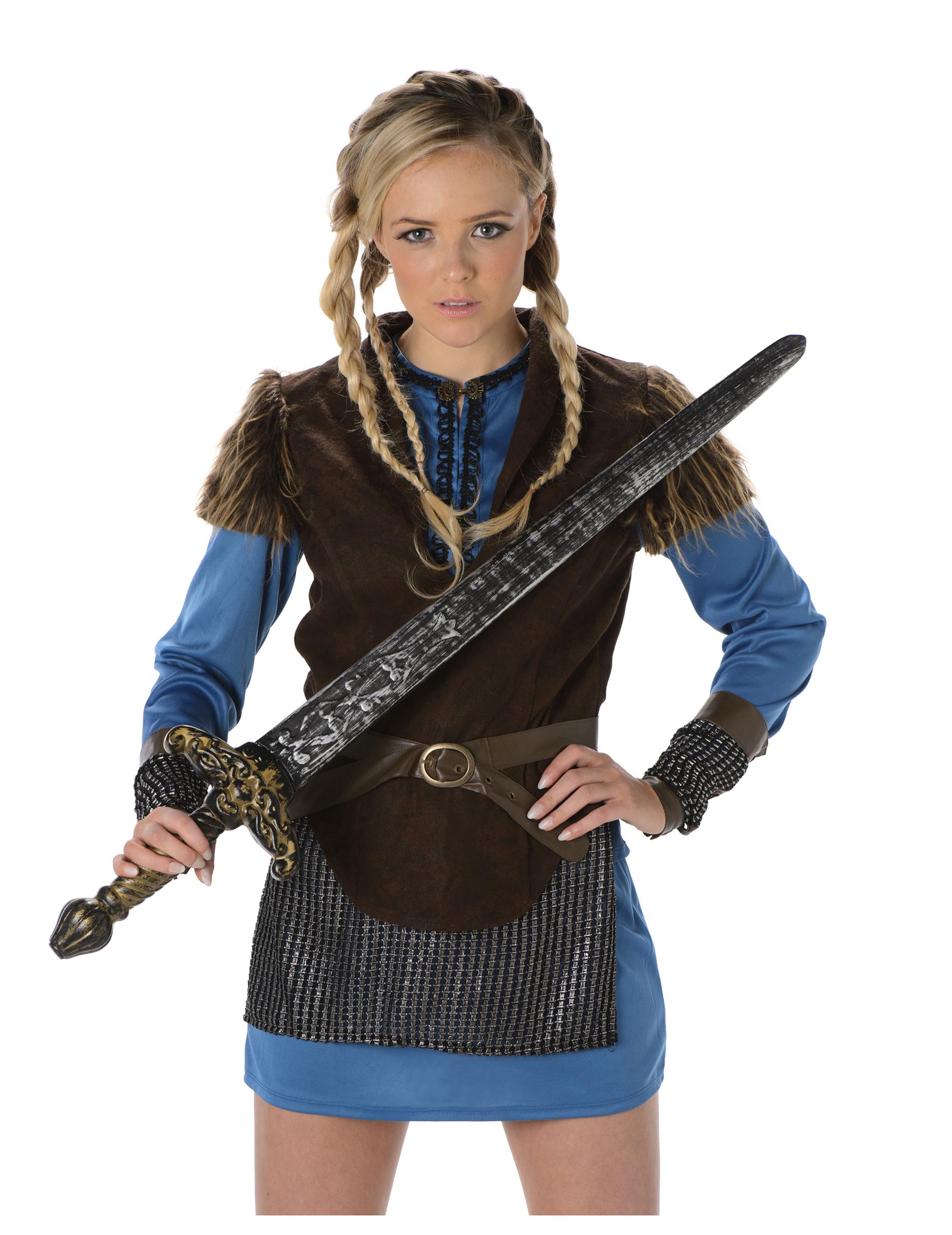 d guisement viking bleu femme deguise toi achat de d guisements adultes. Black Bedroom Furniture Sets. Home Design Ideas