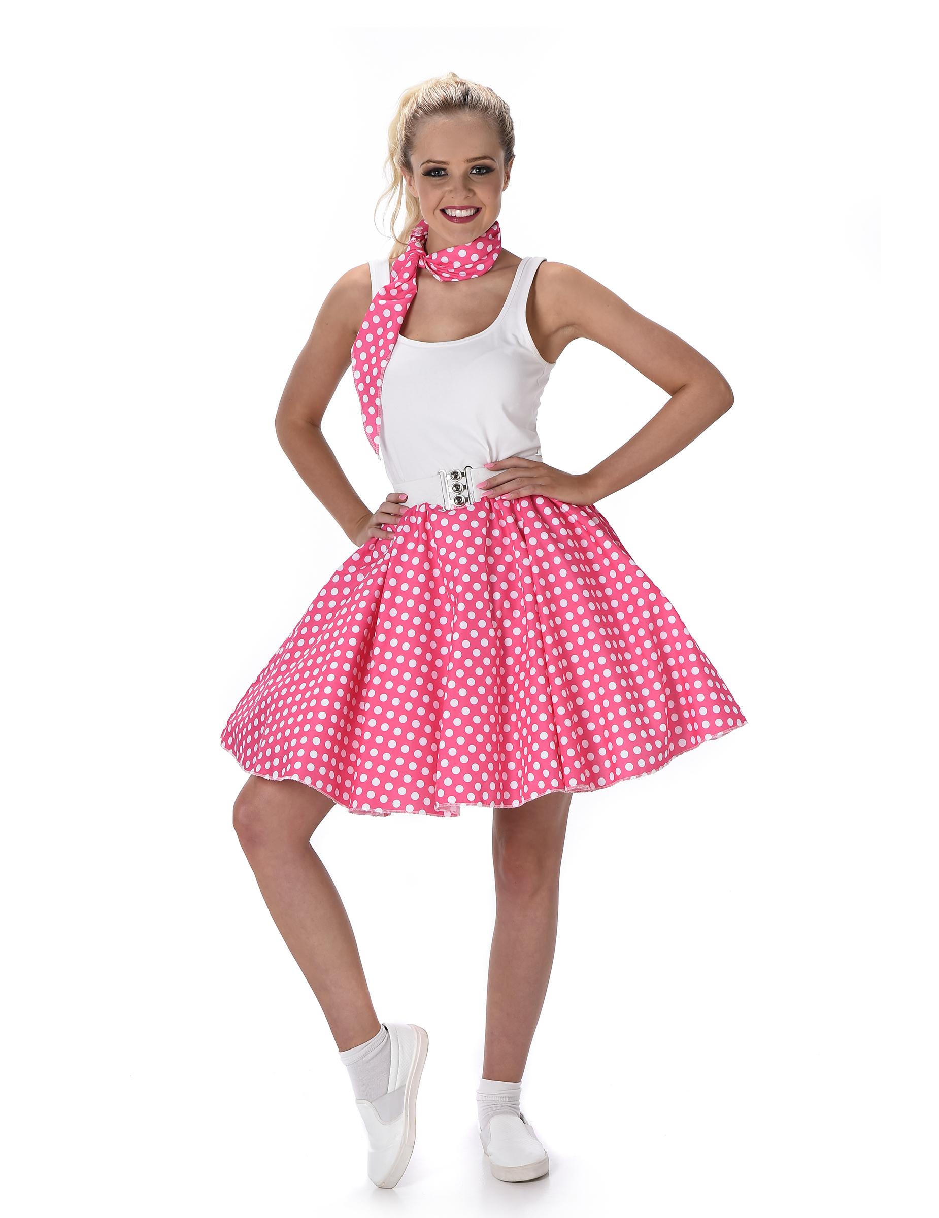 D guisement ann es 50 rose pois femme deguise toi achat de d guisements adultes - Deguisement annee 90 femme ...