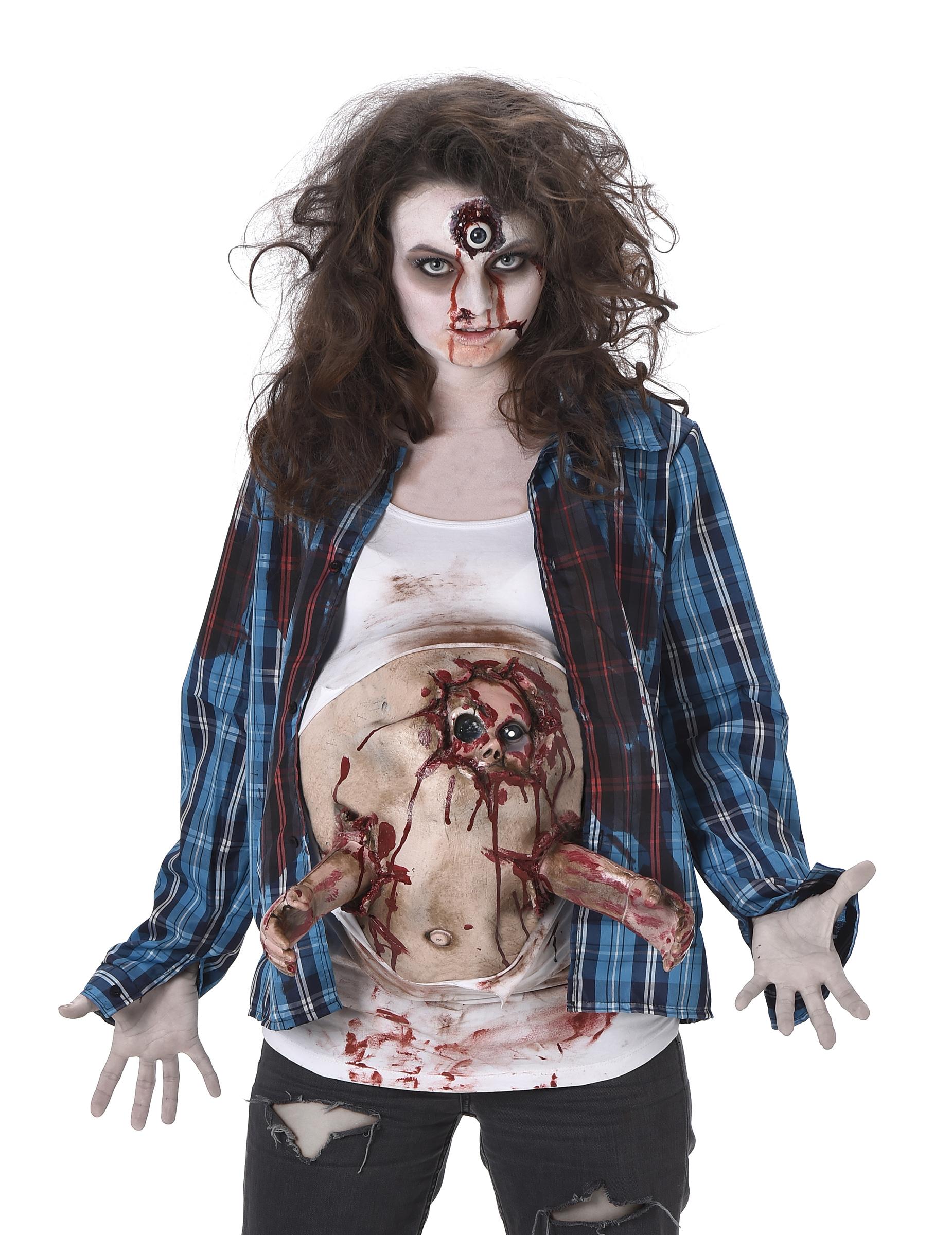 d guisement zombie ventre en latex femme halloween deguise toi achat de d guisements adultes. Black Bedroom Furniture Sets. Home Design Ideas