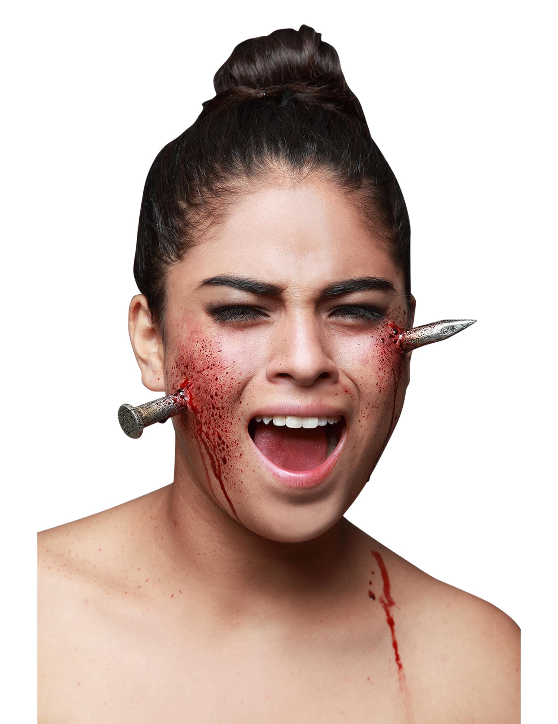Fausse blessure clou g ant adulte halloween achat de maquillage sur vegaoopro grossiste en - Maquillage latex halloween ...