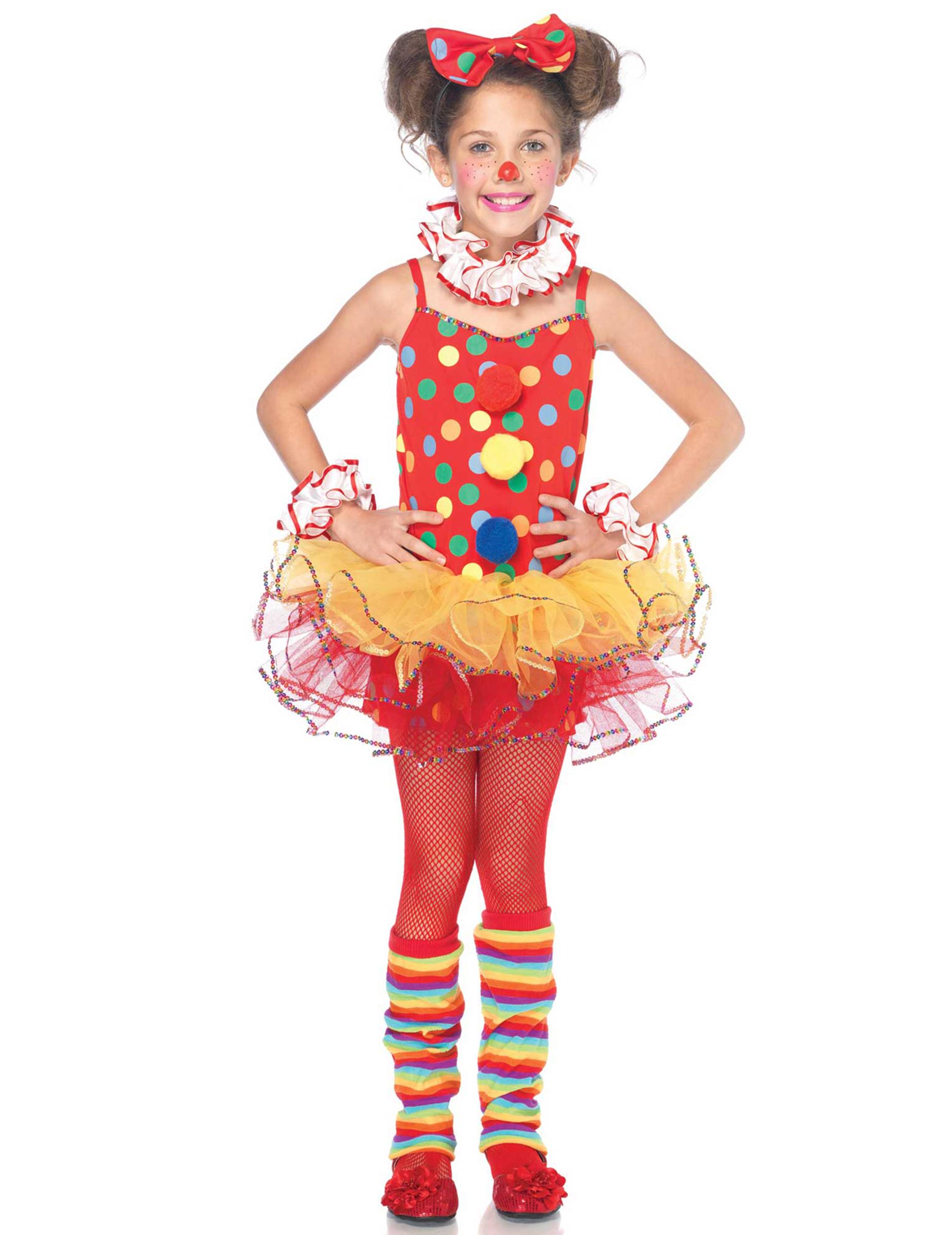 83121cbea54 Déguisement clown de cirque fille