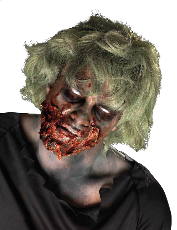 Kit maquillage zombie d chiquet adulte halloween - Maquillage zombie simple ...