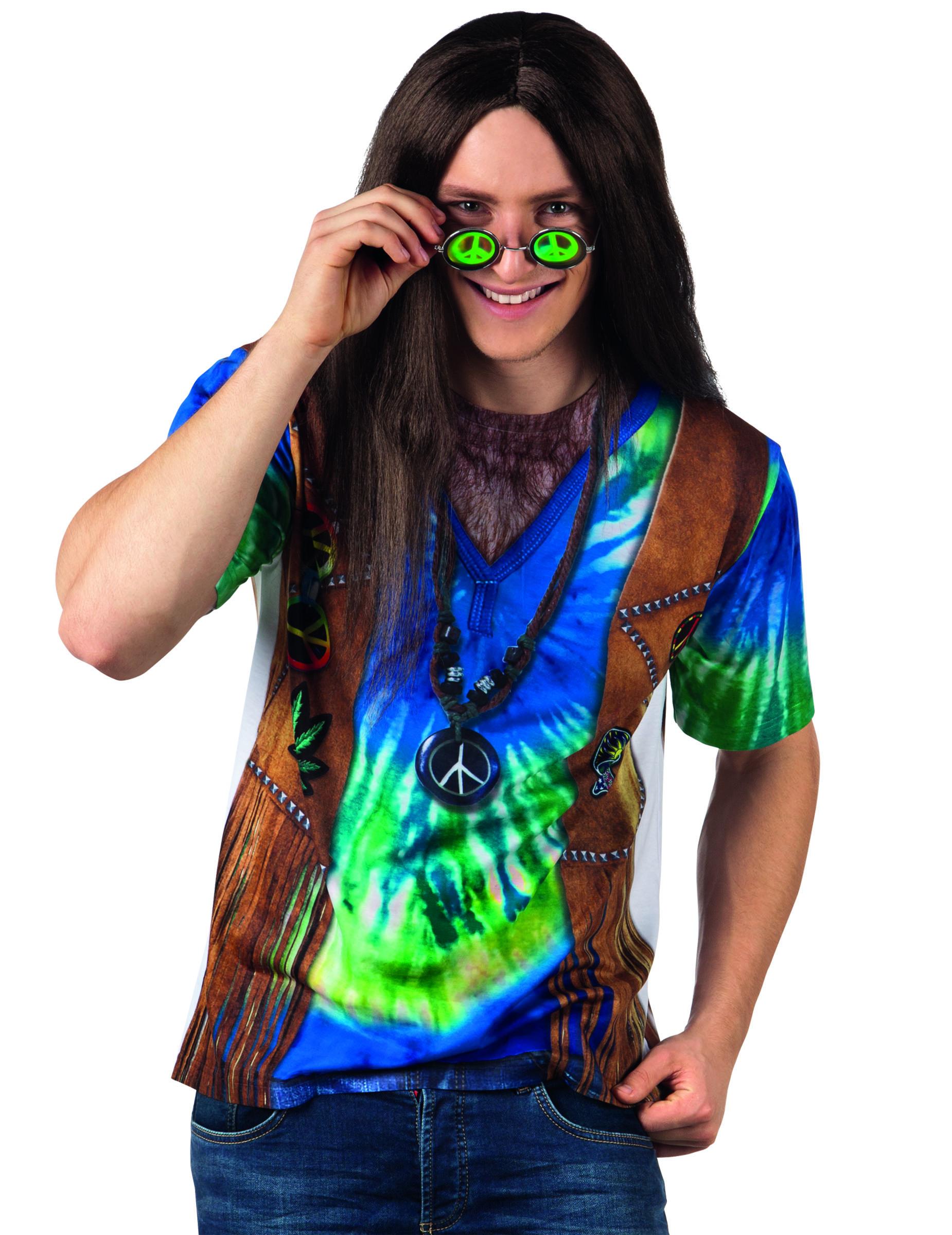 T shirt hippie bleu homme deguise toi achat de for Hippie t shirts australia