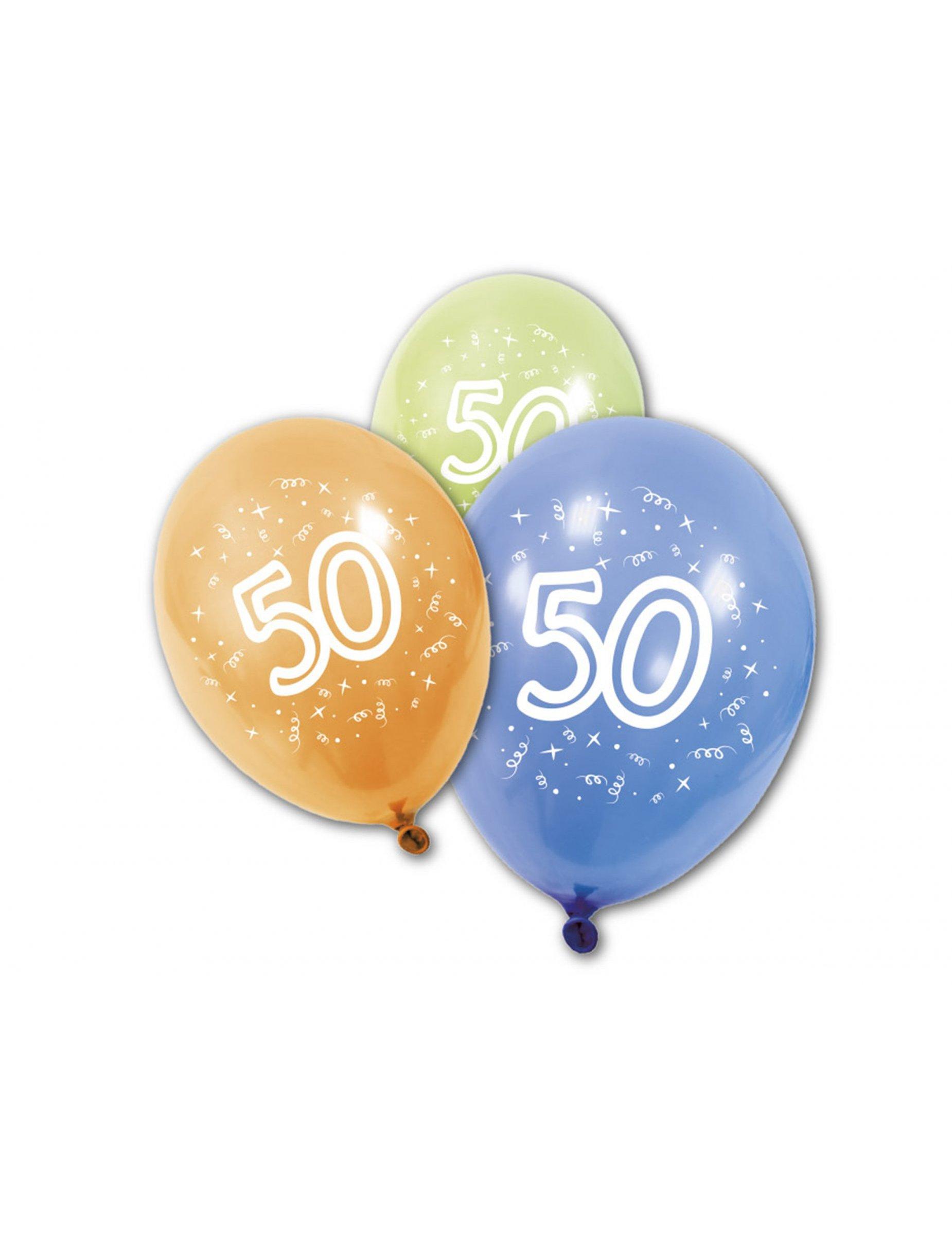 8 ballons anniversaire 50 ans achat de decoration animation sur vegaoopro grossiste en. Black Bedroom Furniture Sets. Home Design Ideas