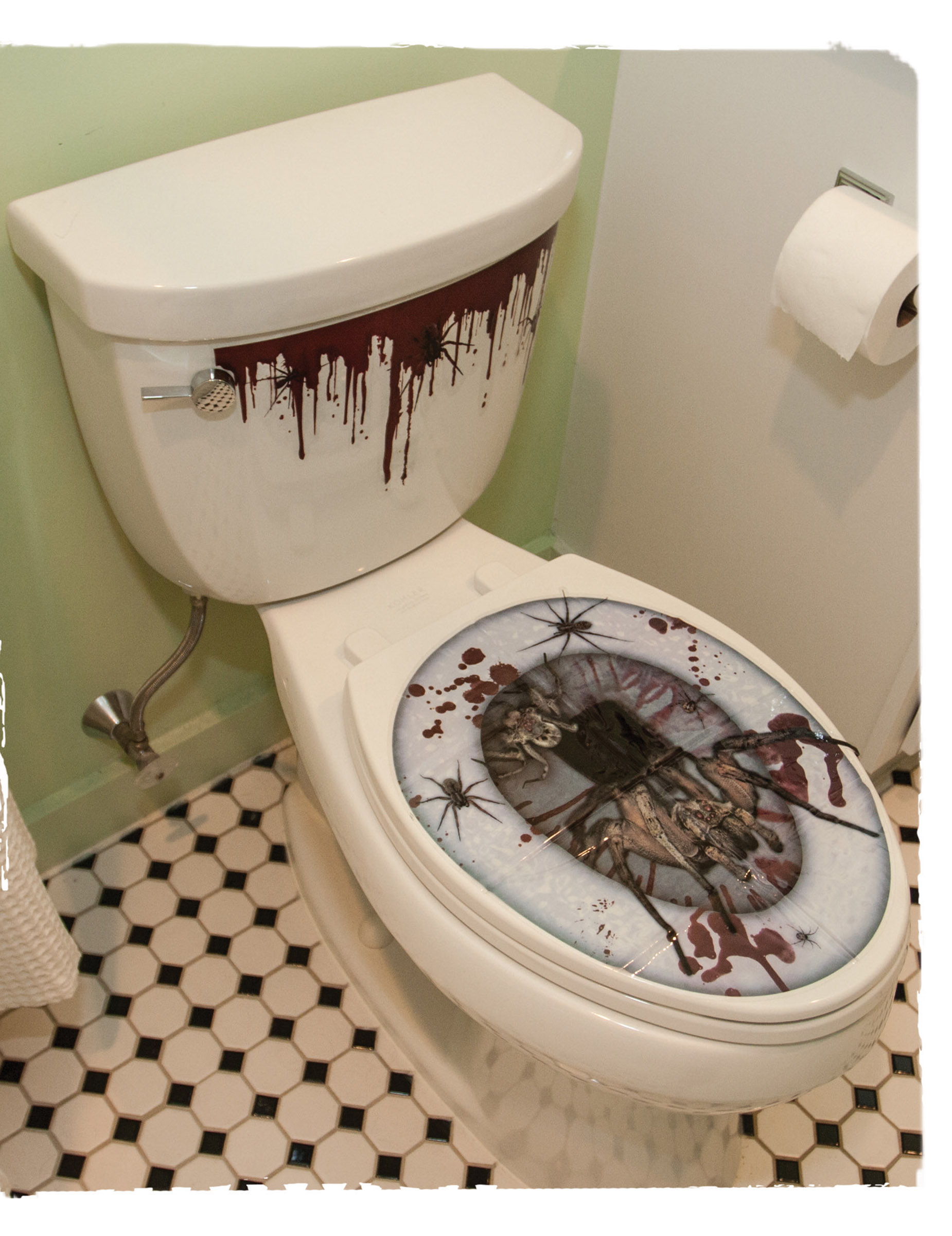 Stickers pour abattant de wc halloween deguise toi achat de decoration animation - Stickers abattant wc ...