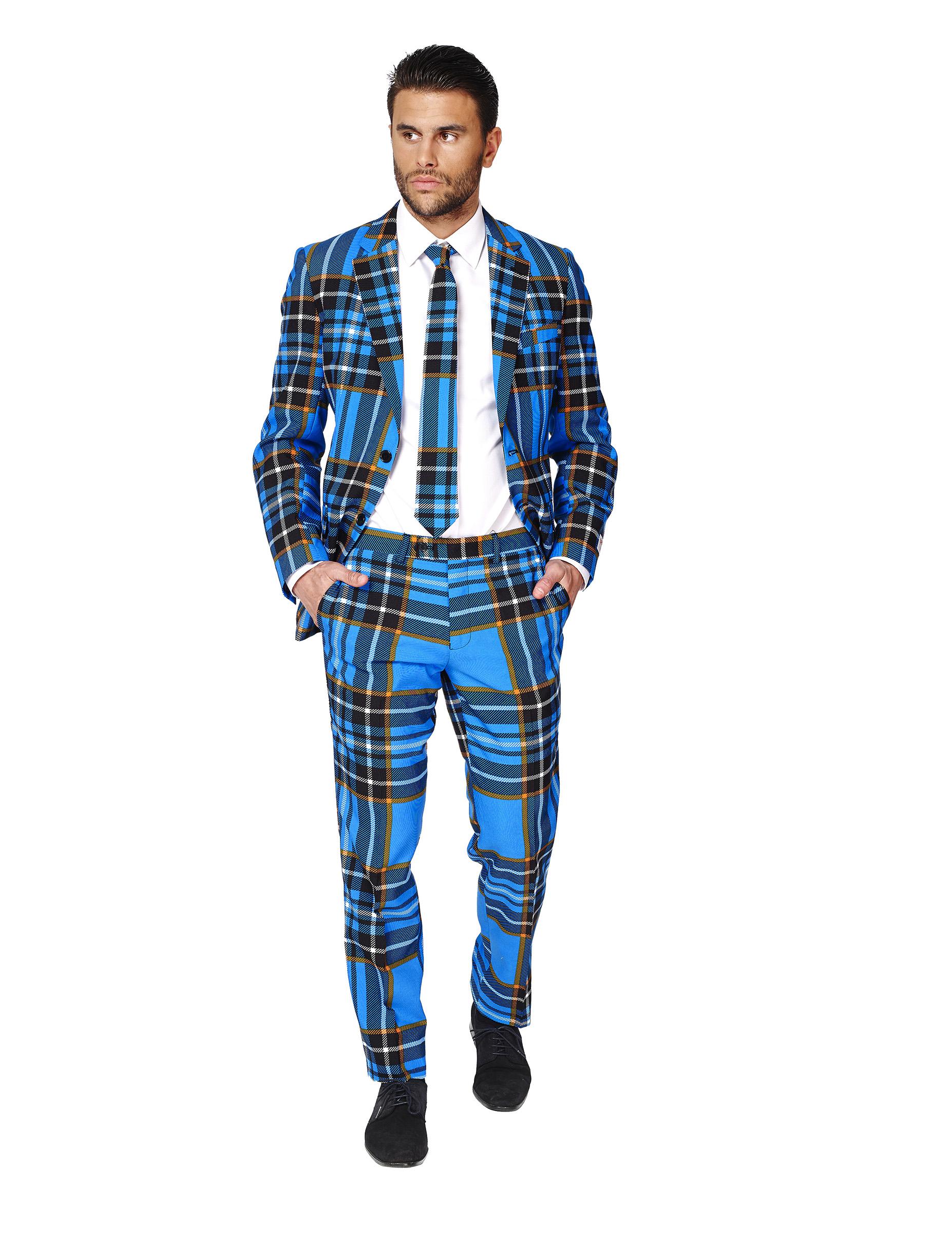 costume mr tartan bleu cossais homme opposuits deguise toi achat de d guisements adultes. Black Bedroom Furniture Sets. Home Design Ideas