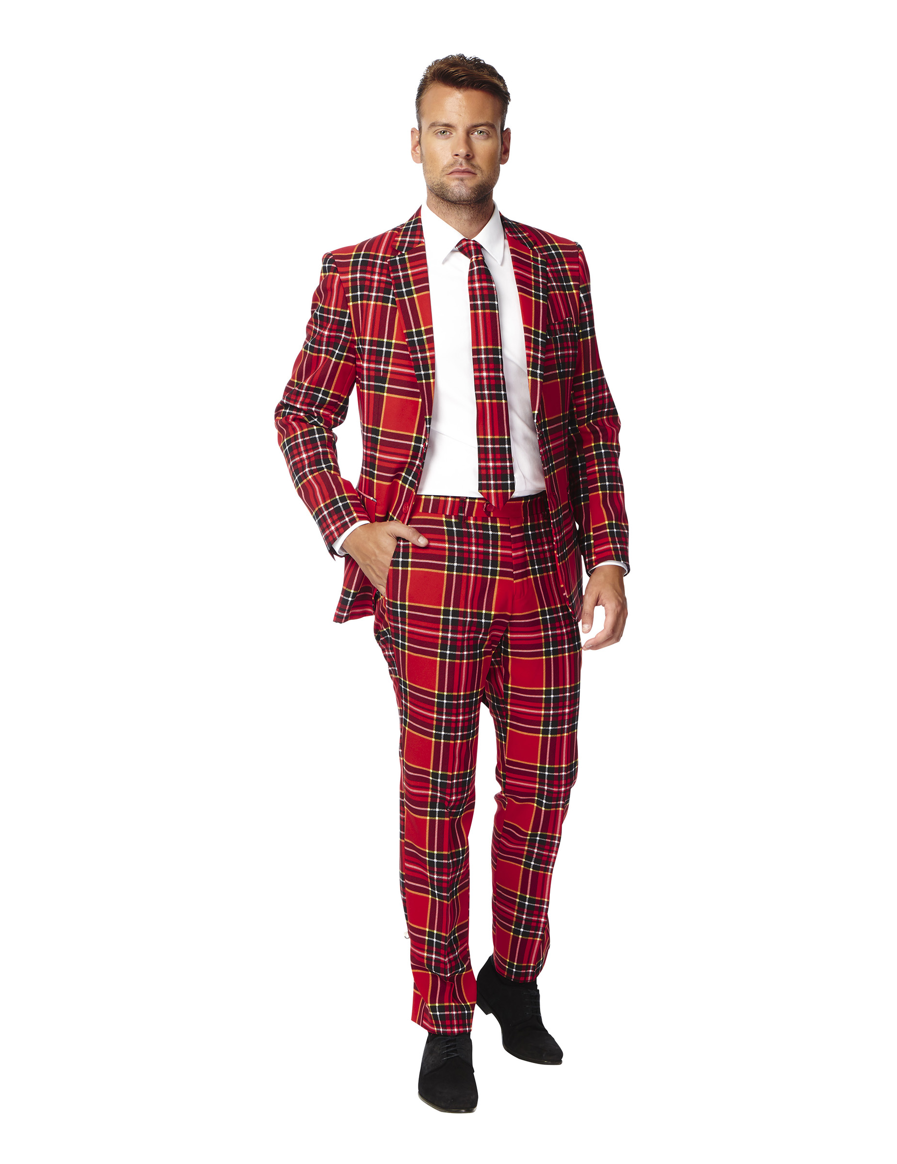 Costume mr tartan rouge cossais homme opposuits - Costume original homme ...
